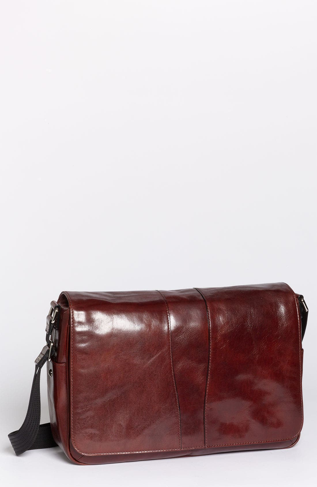 Leather Messenger Bag,                             Main thumbnail 1, color,                             200