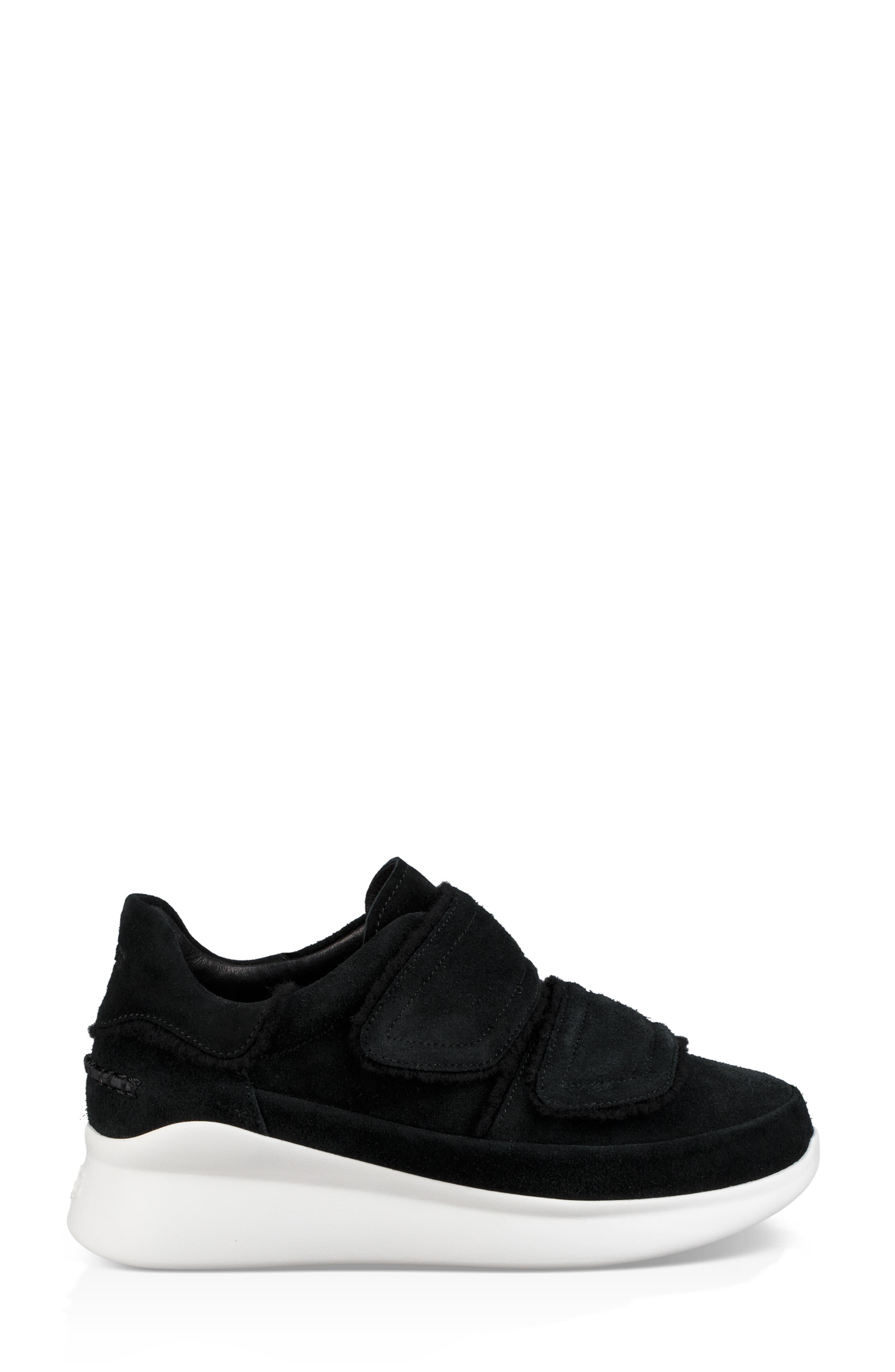 Ashby Spill Seam Sneaker,                             Alternate thumbnail 3, color,                             BLACK LEATHER