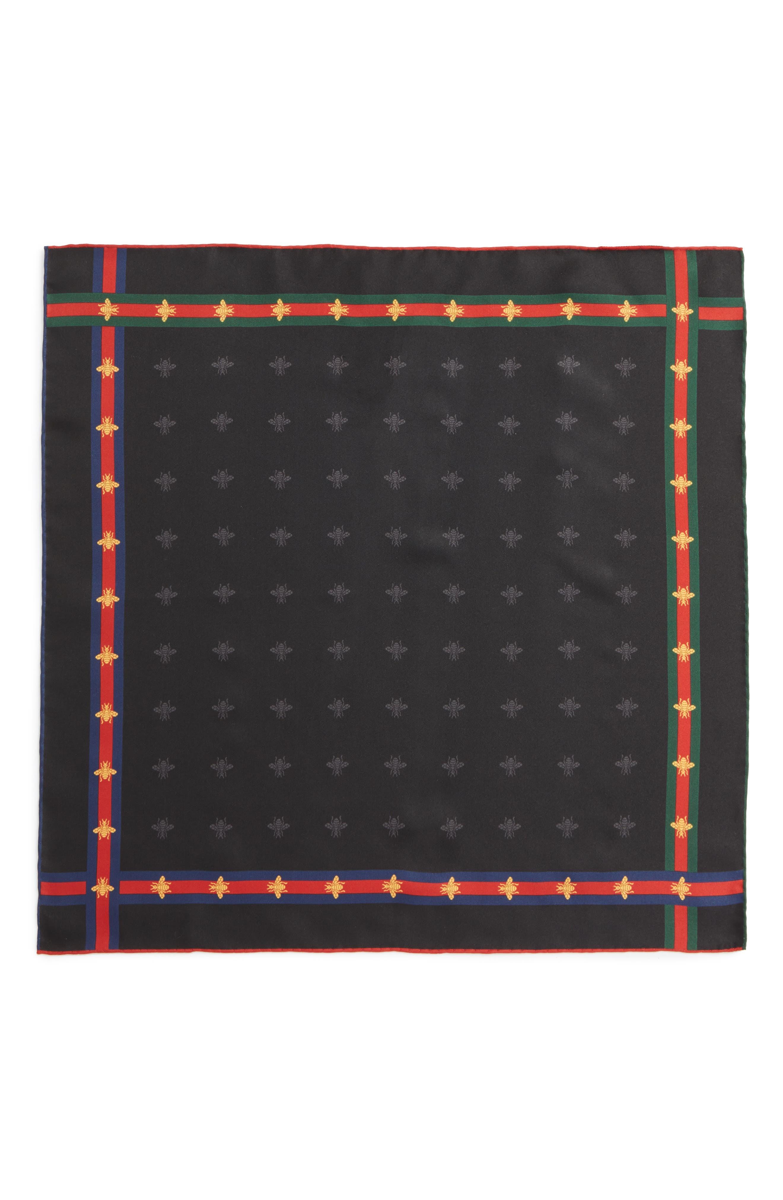 Runebis Silk Twill Pocket Square,                             Alternate thumbnail 2, color,                             003