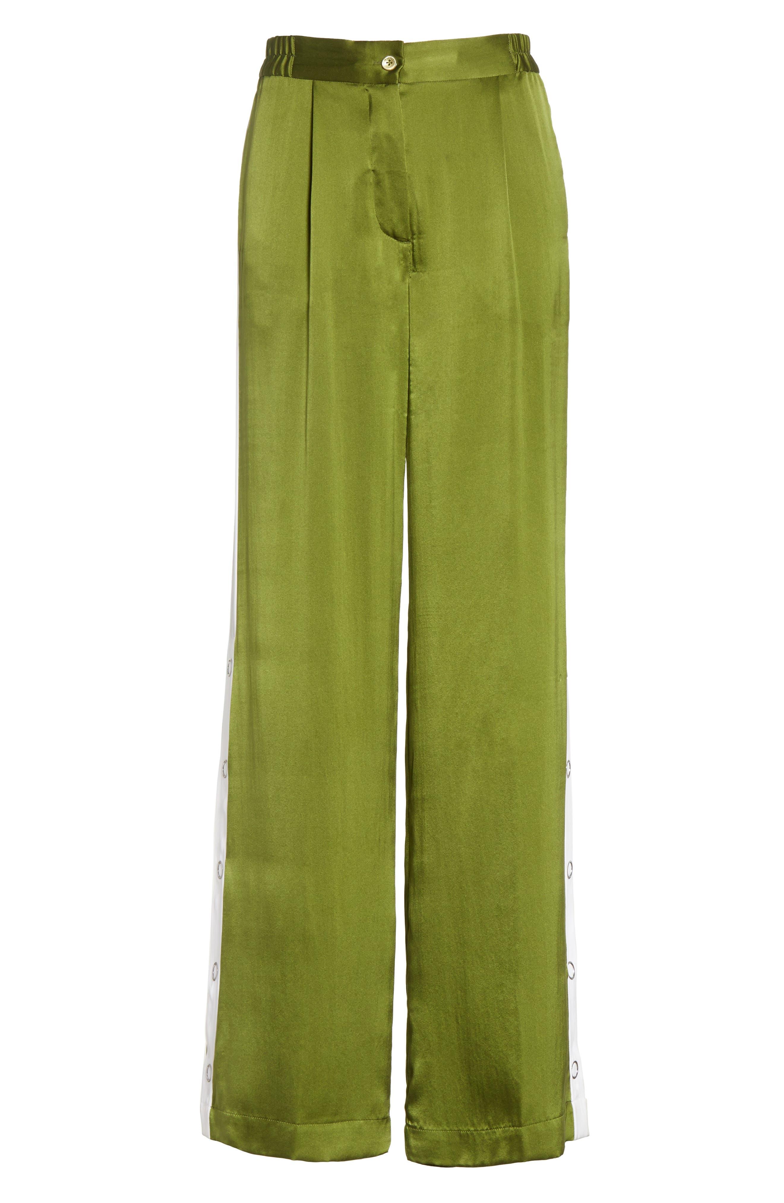 Arwen Wide Leg Silk Pants,                             Alternate thumbnail 12, color,