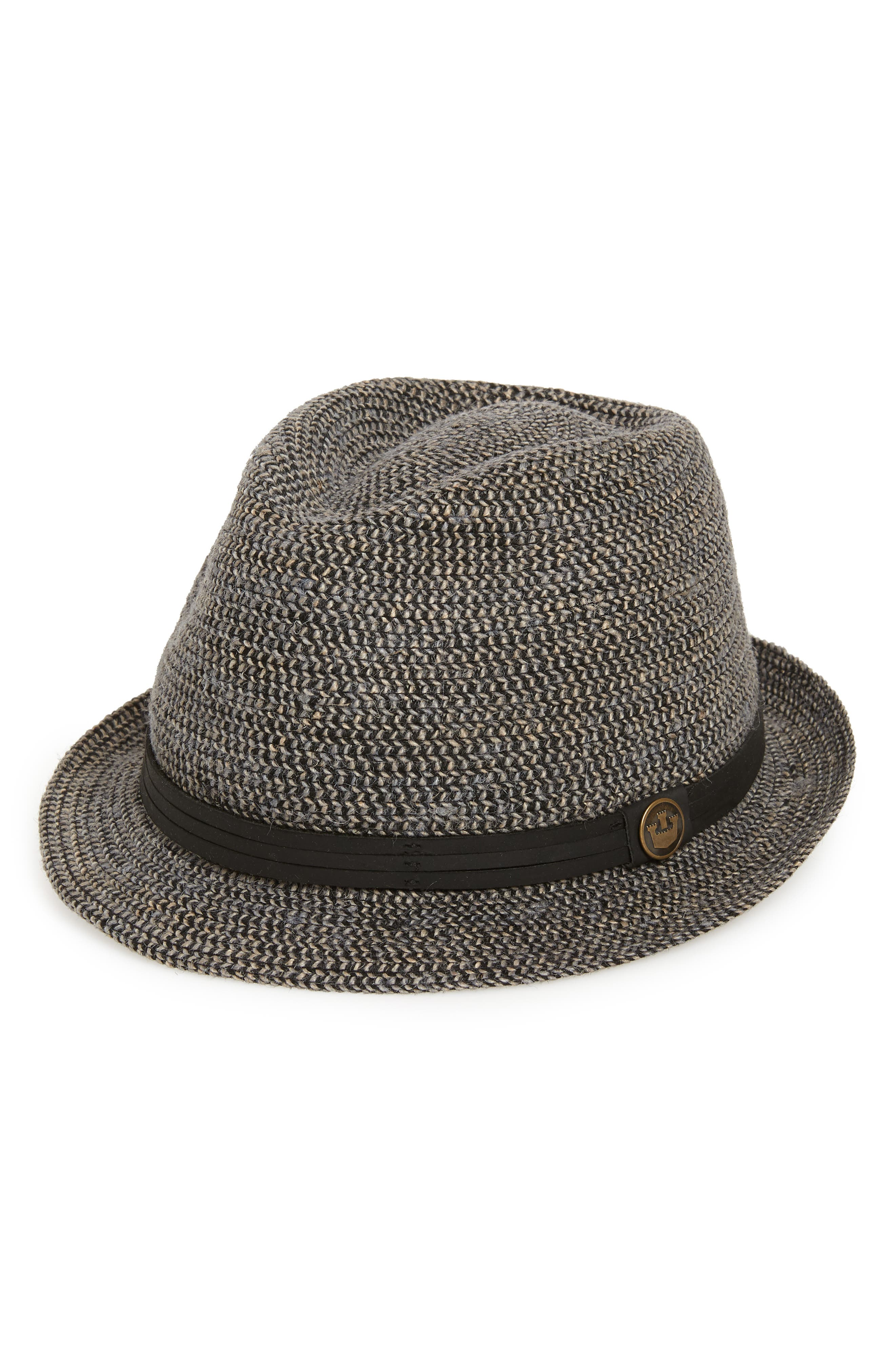 Laying Low Porkpie Hat,                             Main thumbnail 1, color,                             001