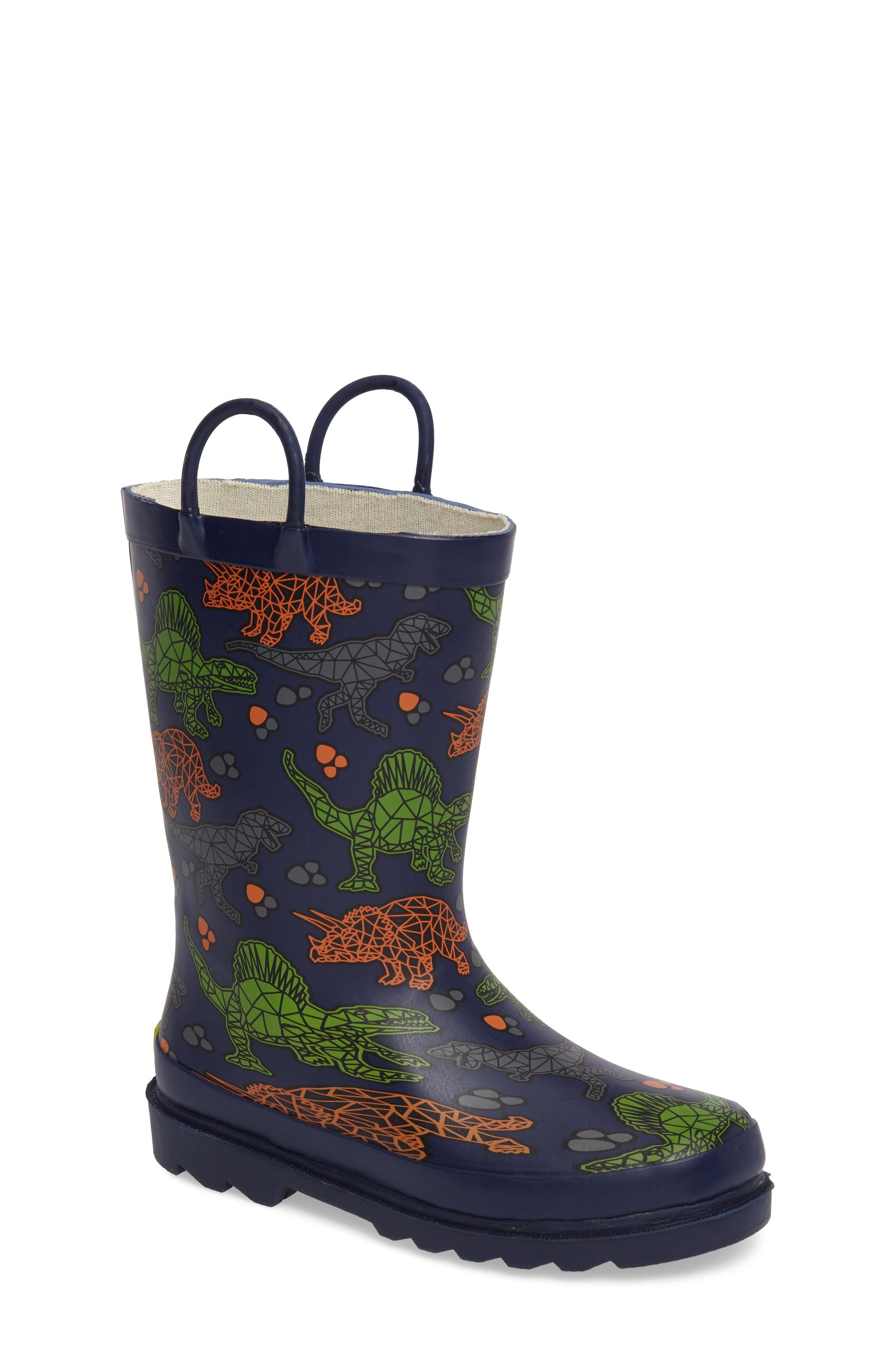 Dino Facets Rain Boot,                         Main,                         color, 421