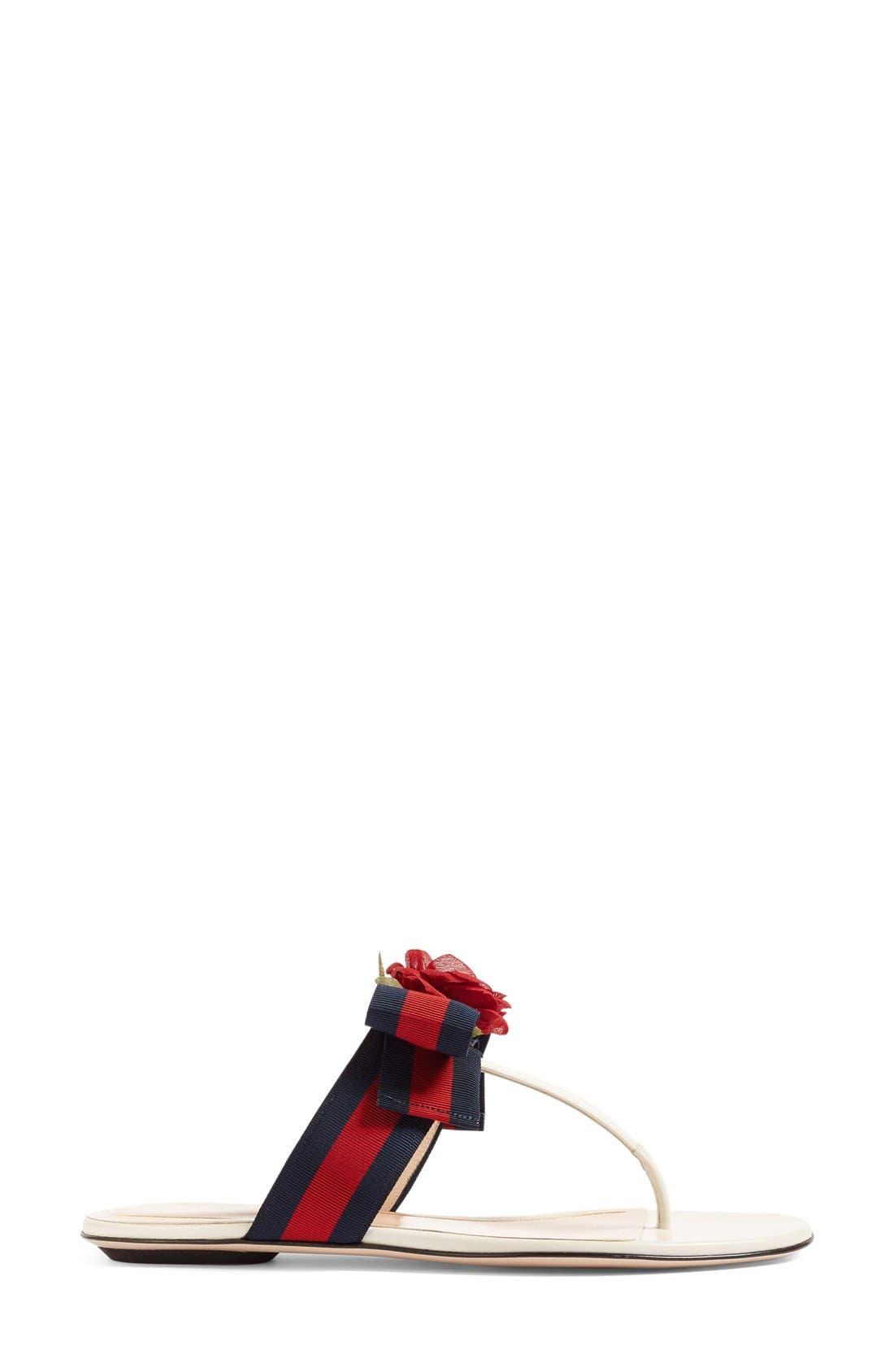 Cindi Rose T-Strap Sandal,                             Alternate thumbnail 4, color,                             100