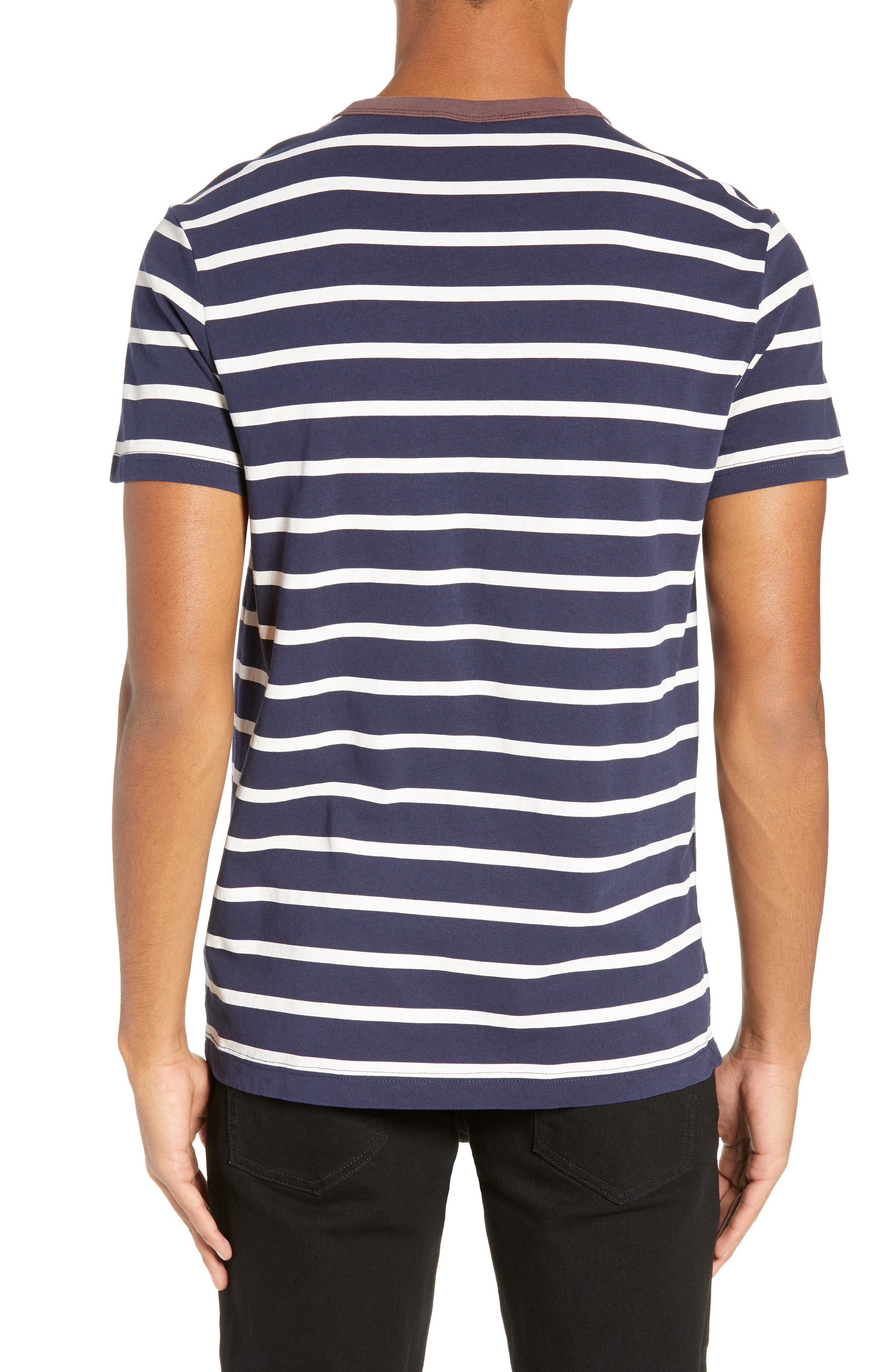 Mow Stripe Logo T-Shirt,                             Alternate thumbnail 2, color,                             SARTHO BLUE/ WHITE