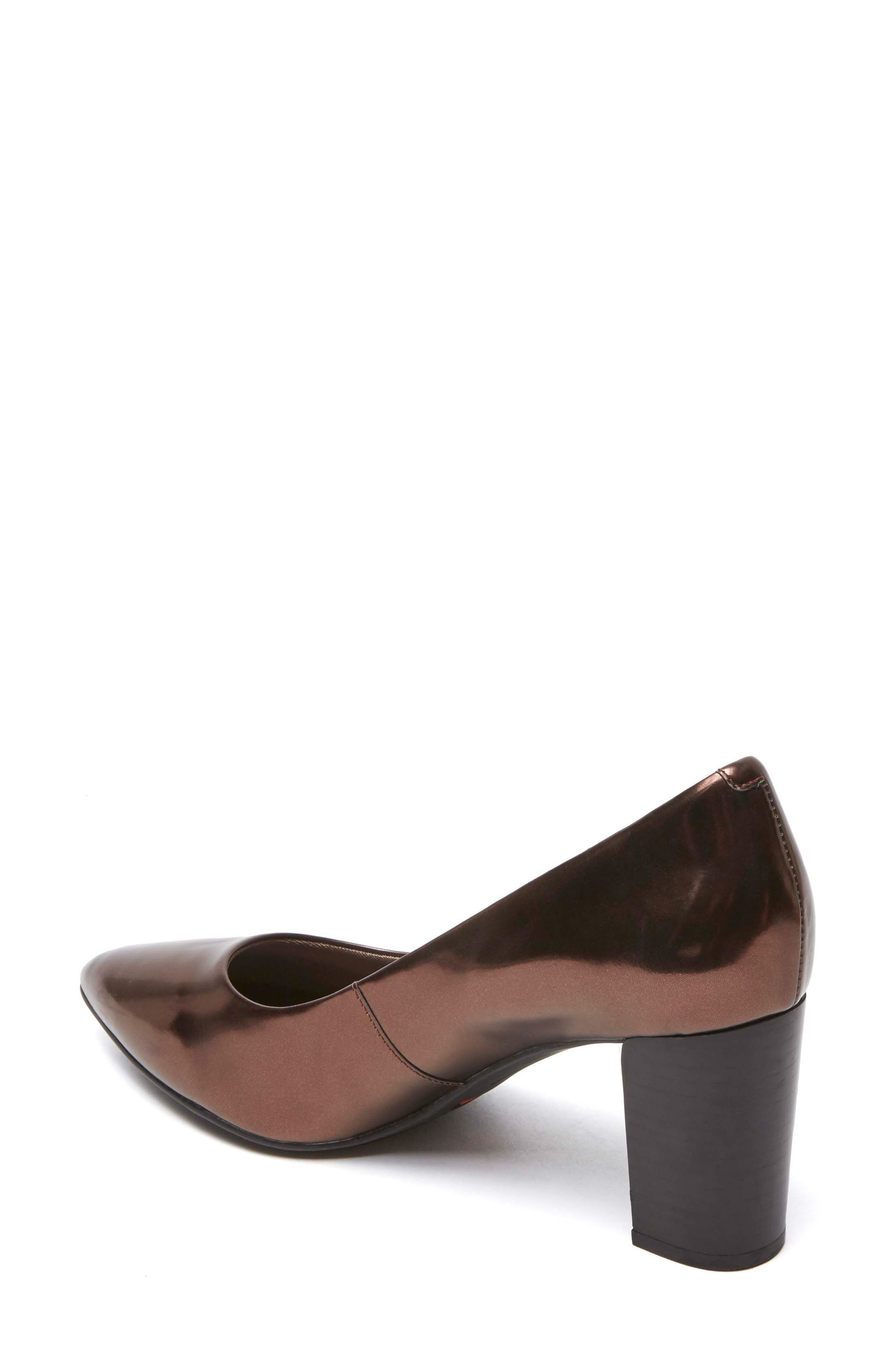 Total Motion Violina Luxe Pointy Toe Pump,                             Alternate thumbnail 2, color,                             BRONZE PATENT LEATHER
