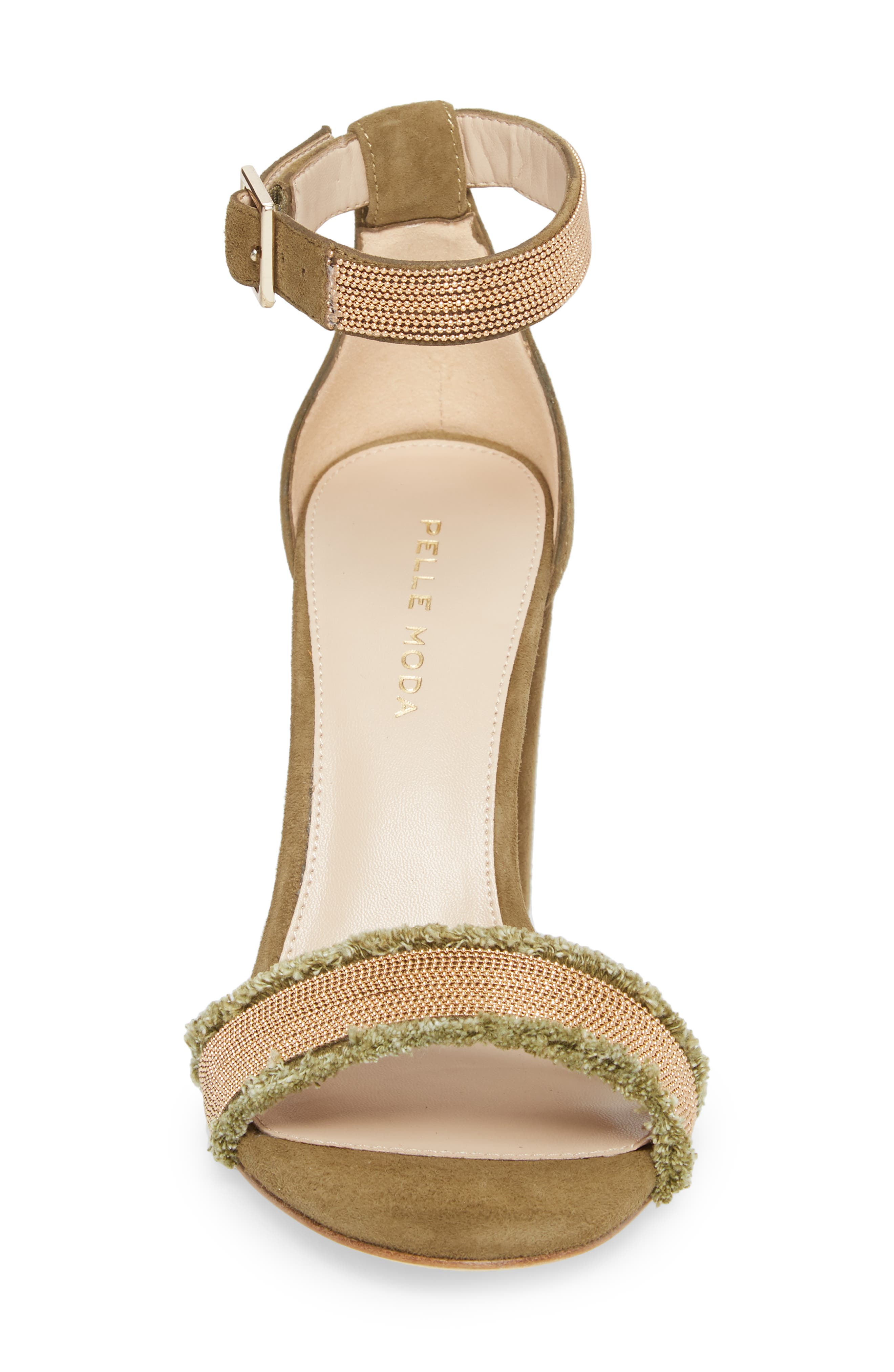 Bonnie6 Embellished Sandal,                             Alternate thumbnail 4, color,                             KHAKI SUEDE