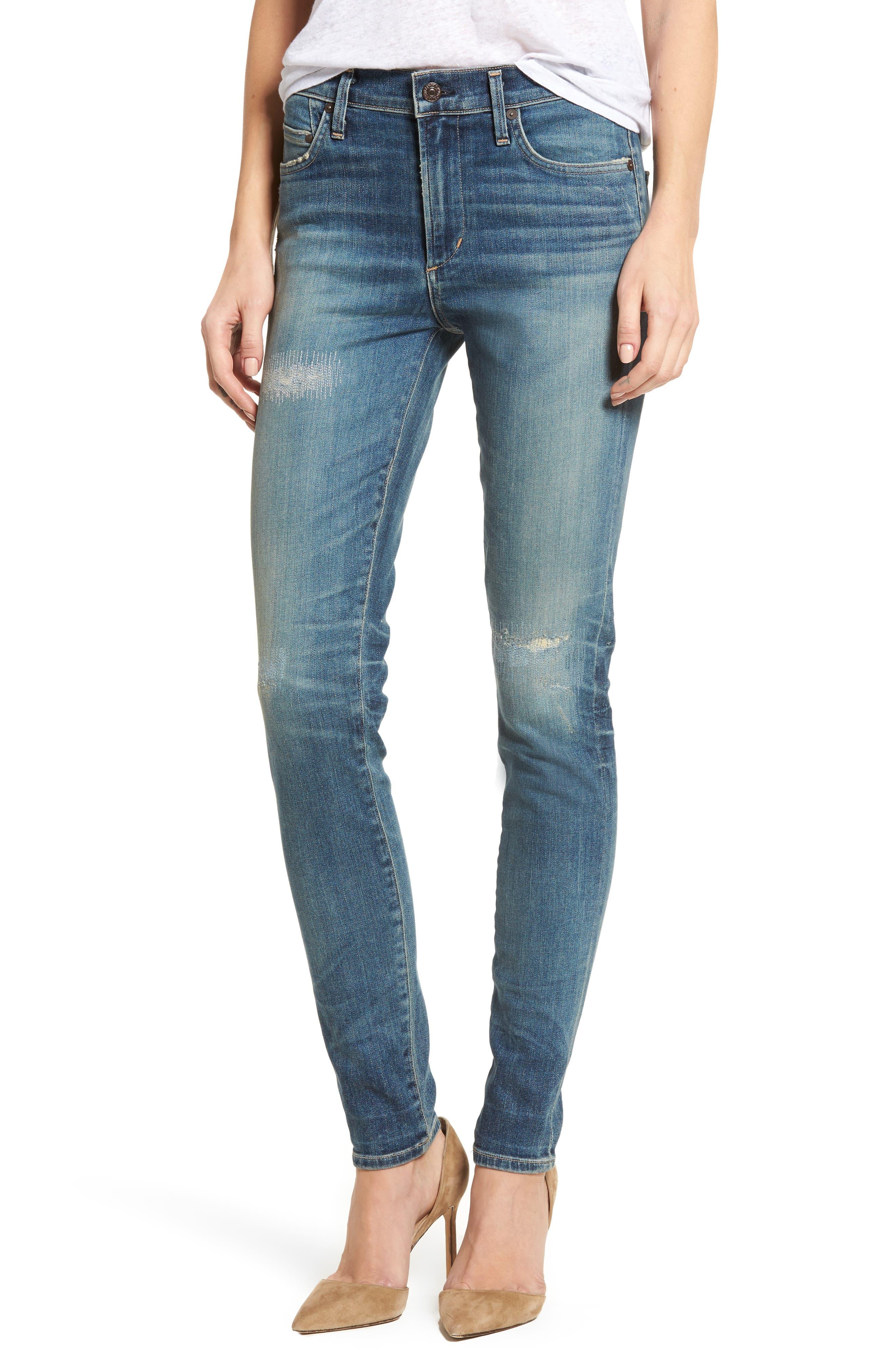 Rocket High Waist Skinny Jeans,                         Main,                         color, 465