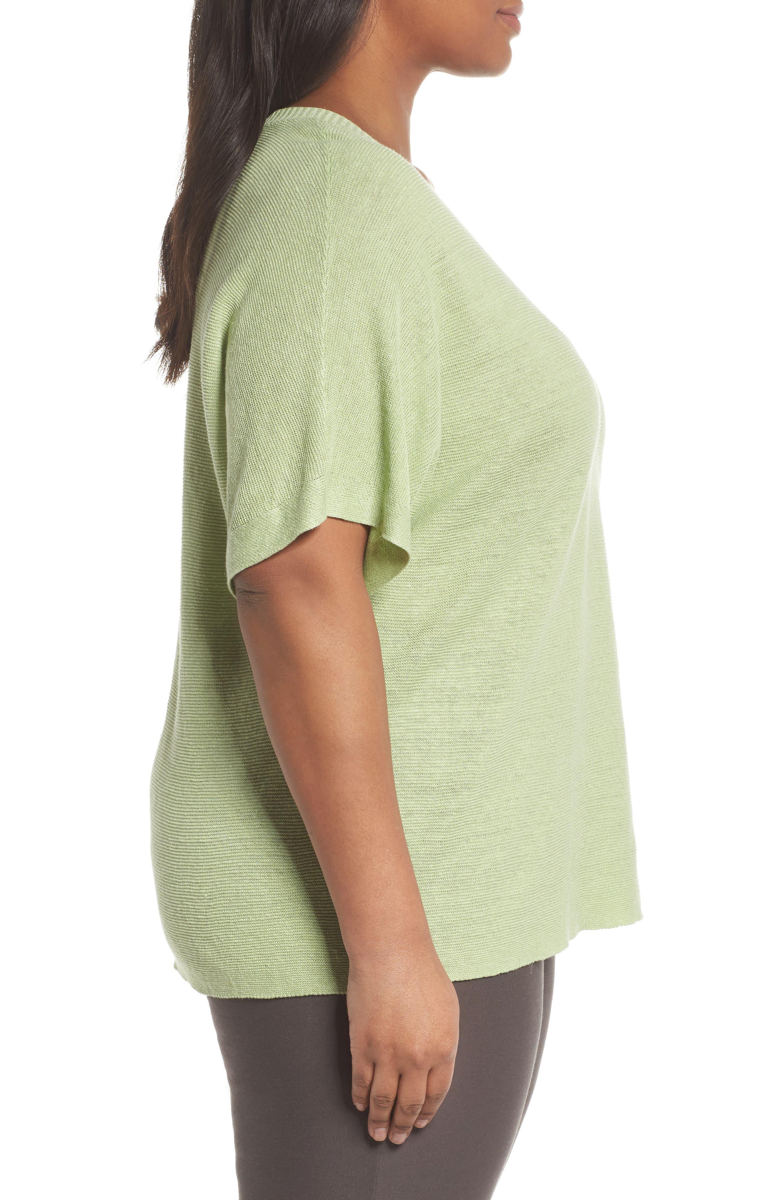 V-Neck Organic Linen Top,                             Alternate thumbnail 16, color,