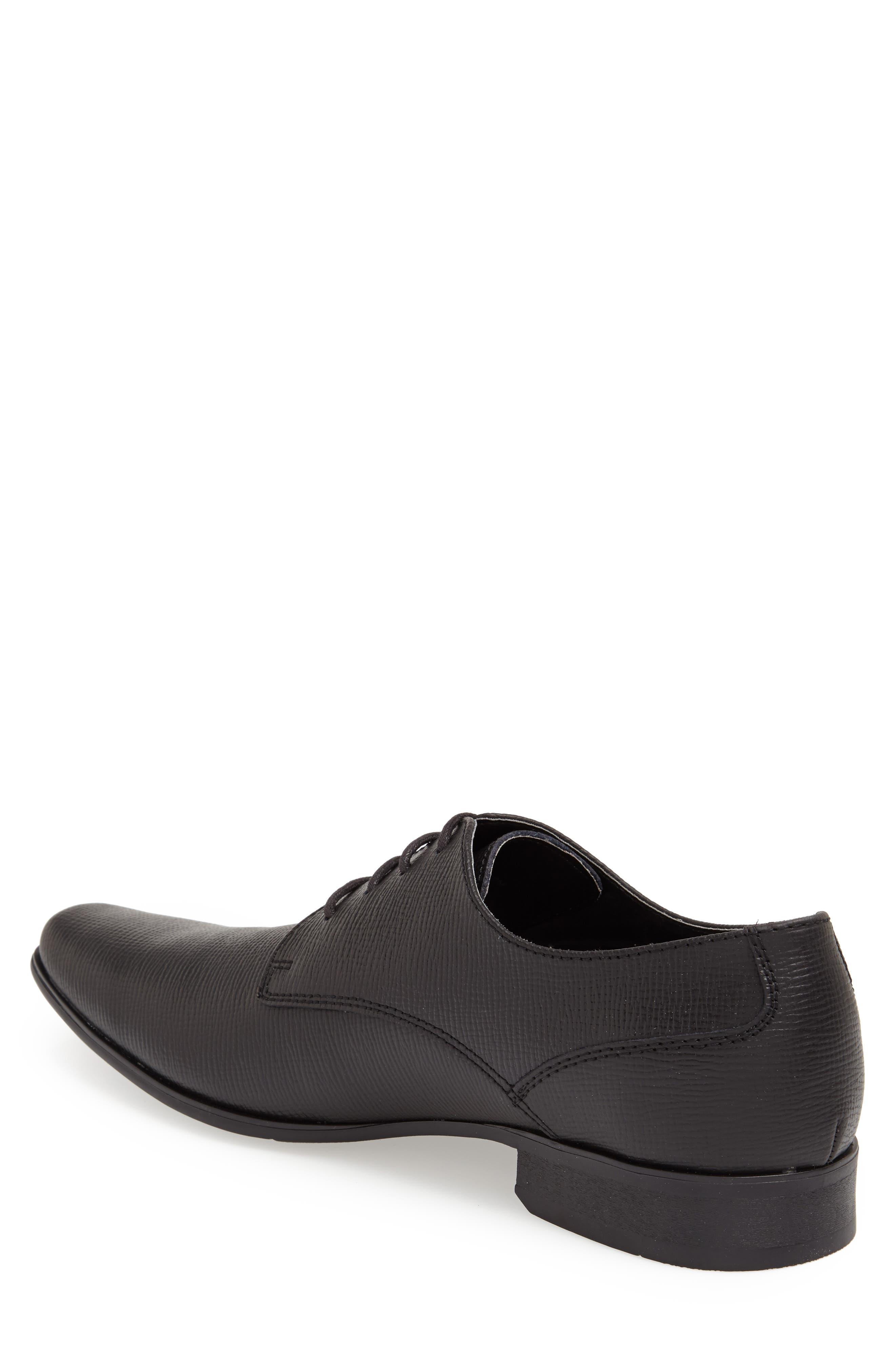 'Brodie' Plain Toe Derby,                             Alternate thumbnail 6, color,                             BLACK