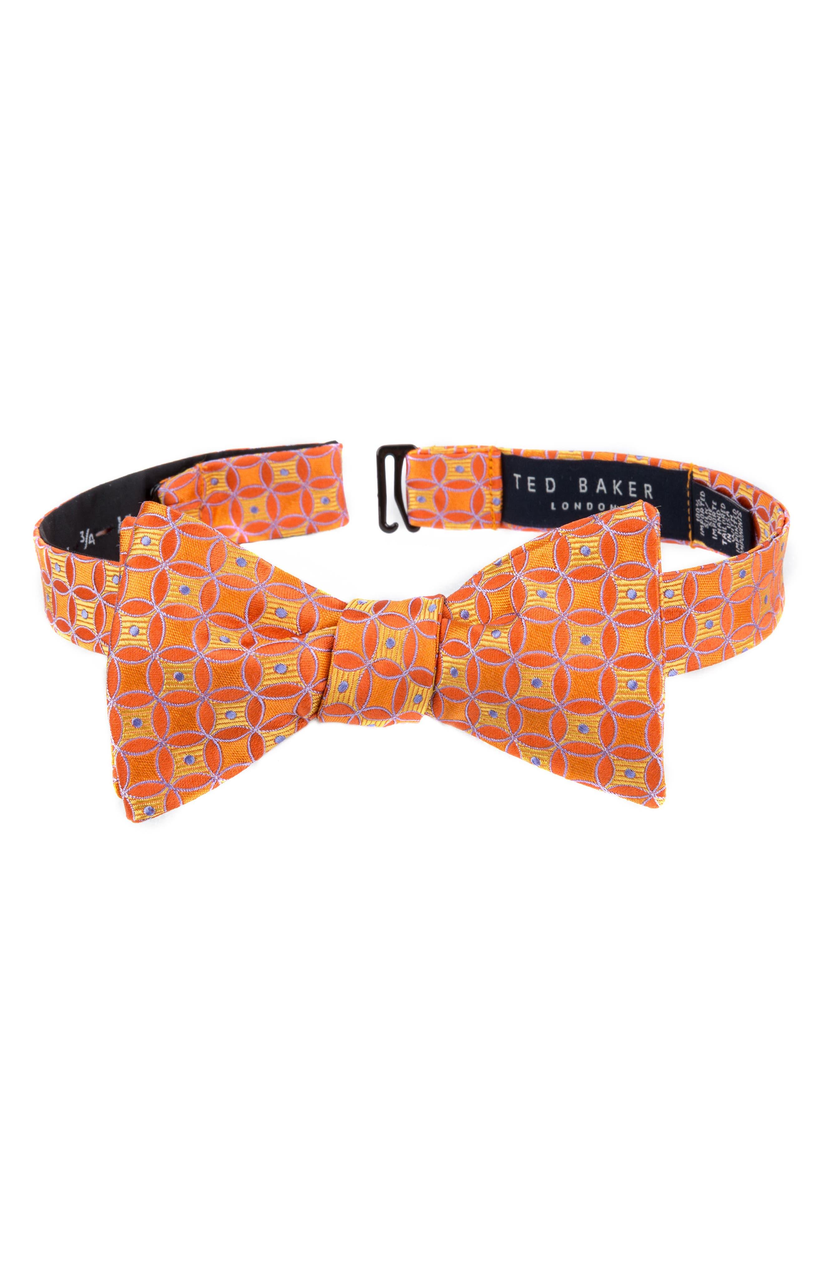 Park Lane Geometric Silk Bow Tie,                             Main thumbnail 3, color,