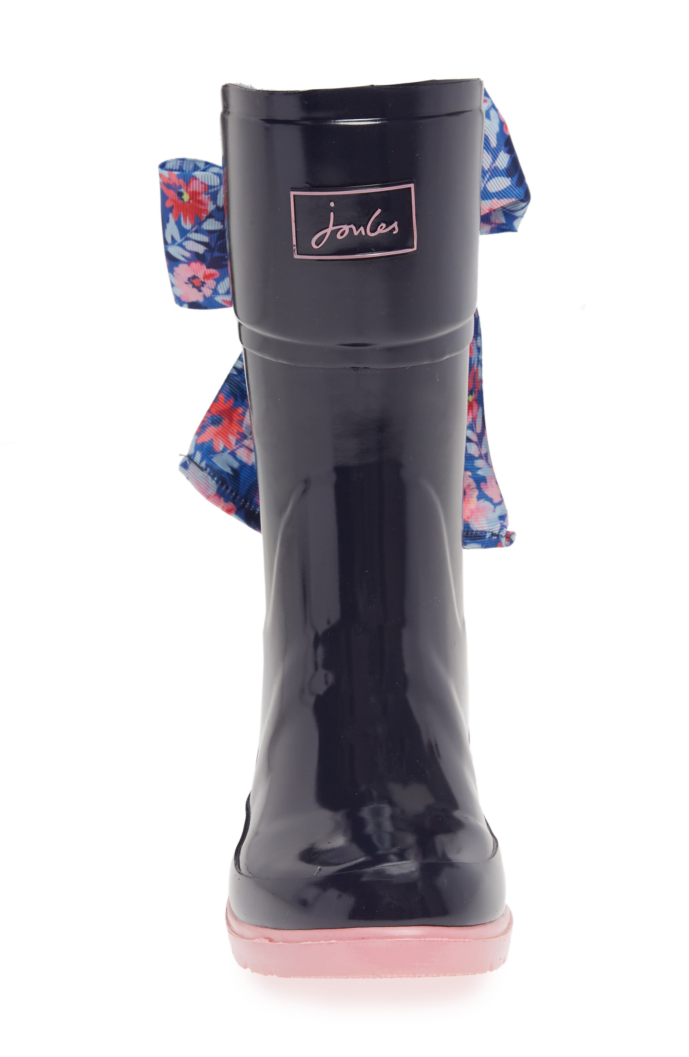 Bow Welly Waterproof Rain Boot,                             Alternate thumbnail 4, color,                             FRENCH NAVY