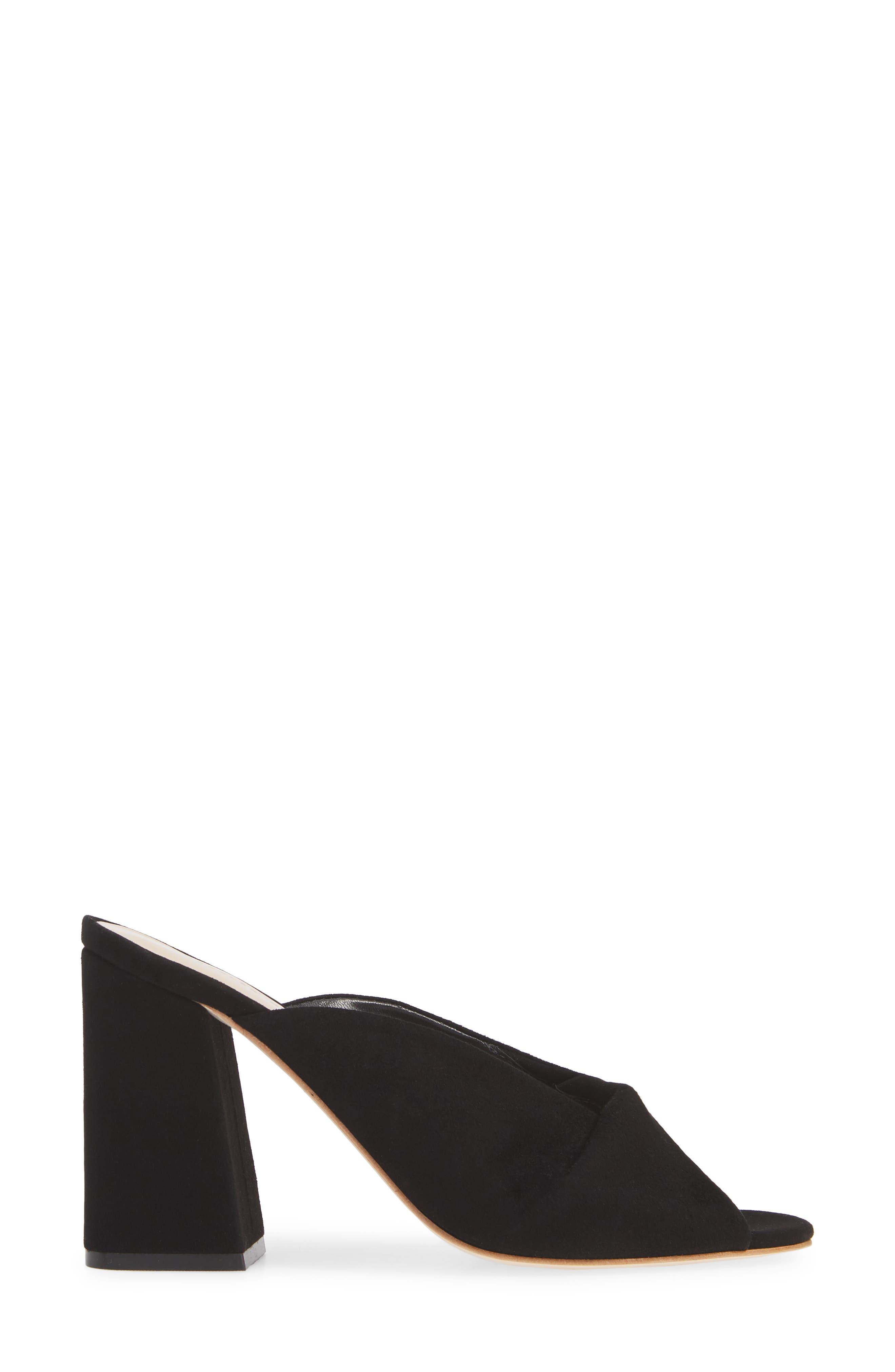 Laurel Slide Sandal,                             Alternate thumbnail 3, color,                             BLACK