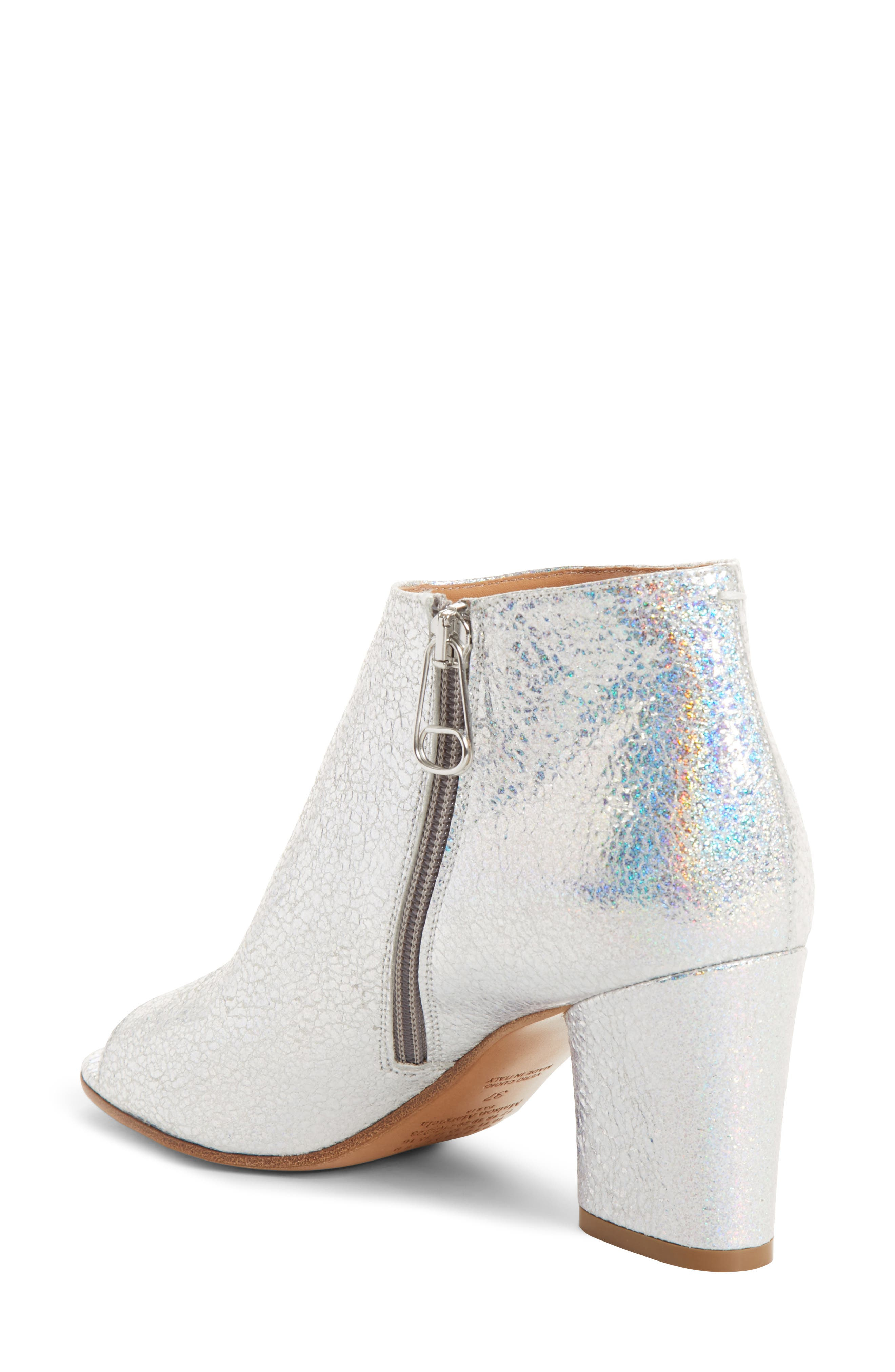 Metallic Open Toe Ankle Boot,                             Alternate thumbnail 2, color,                             040