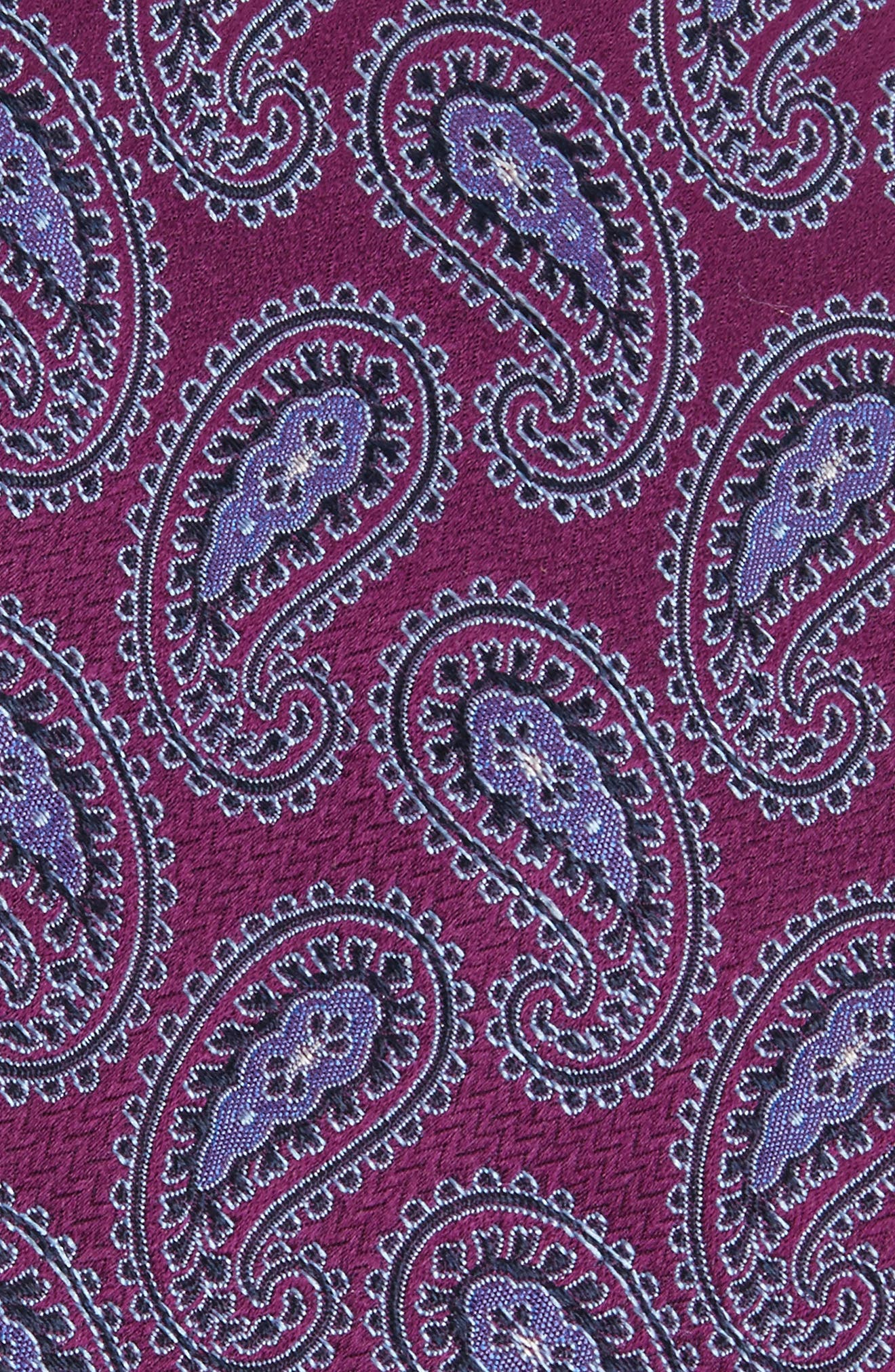 Provincial Pines Paisley Silk Tie,                             Alternate thumbnail 4, color,