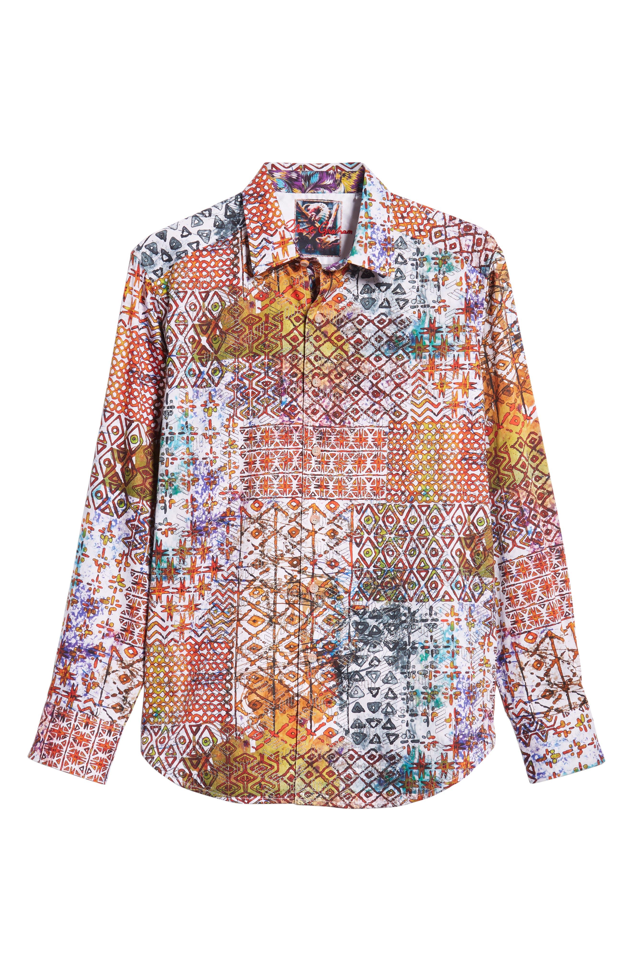 Rhone River Classic Fit Sport Shirt,                             Alternate thumbnail 5, color,                             600