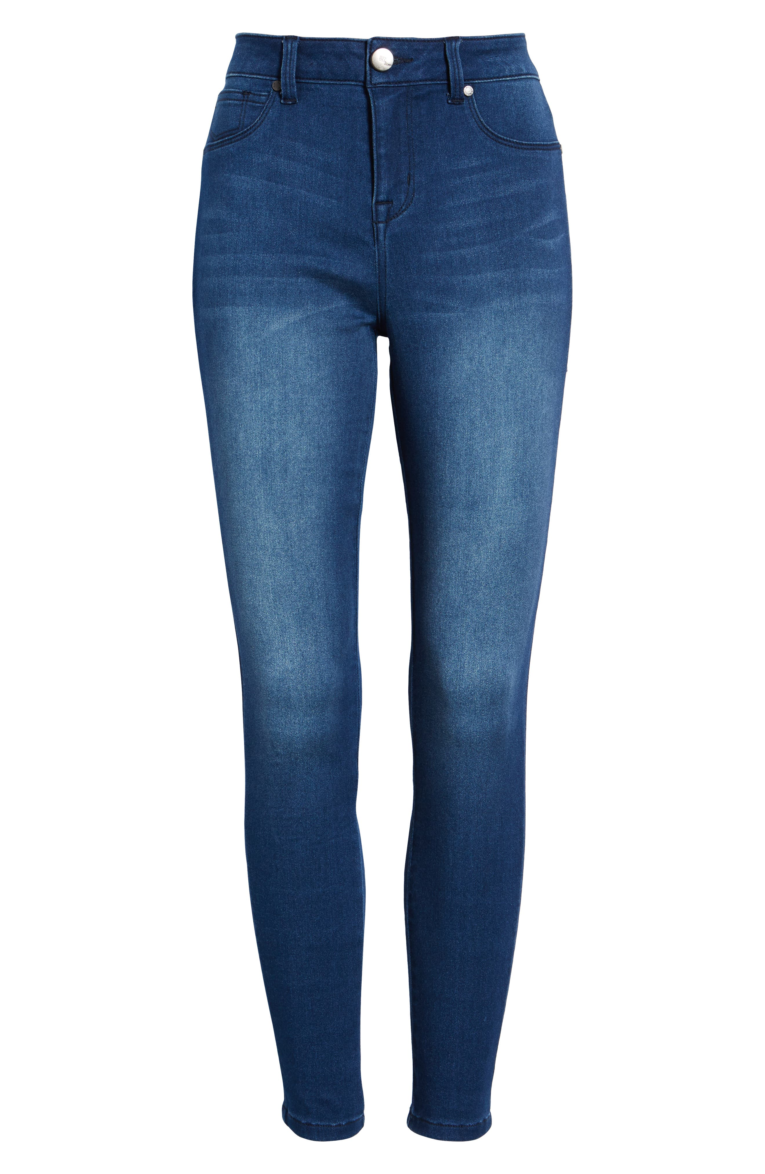 Butter High Waist Skinny Ankle Jeans,                             Alternate thumbnail 7, color,                             DONNA
