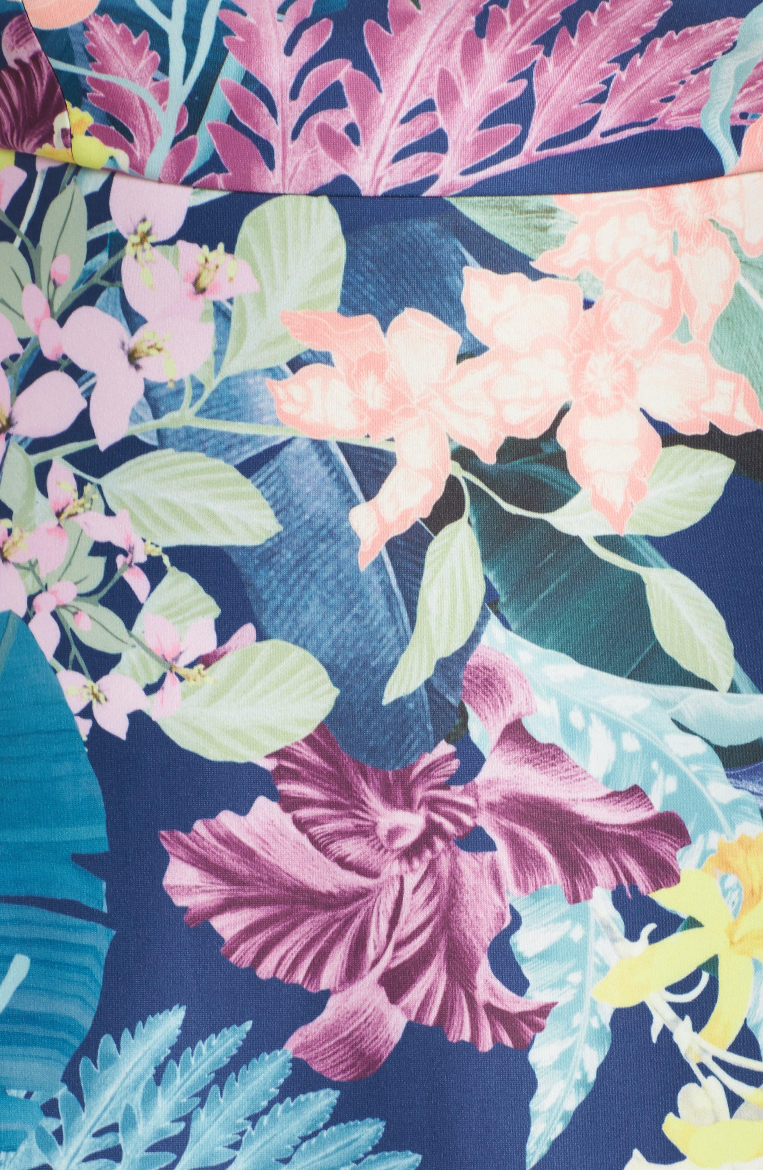Scuba Fit & Flare Dress,                             Alternate thumbnail 5, color,                             480
