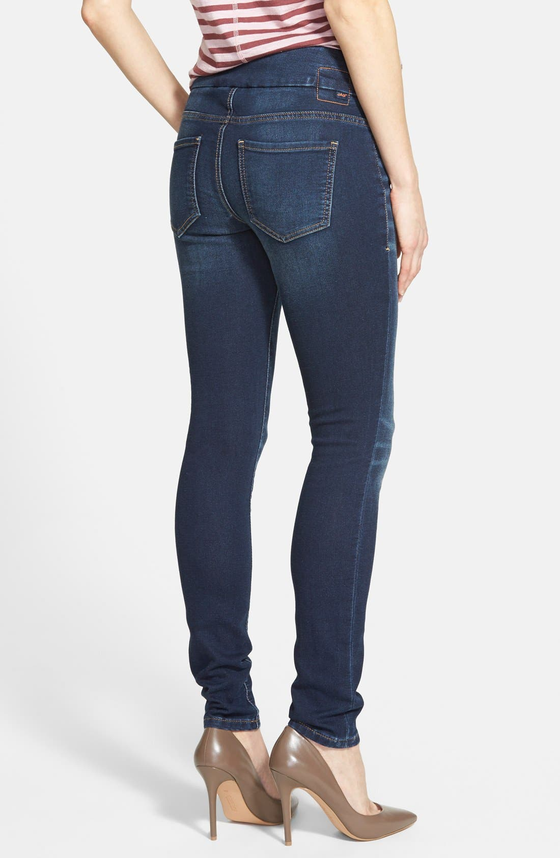 'Nora' Pull-On Stretch Knit Skinny Jeans,                             Alternate thumbnail 2, color,                             401