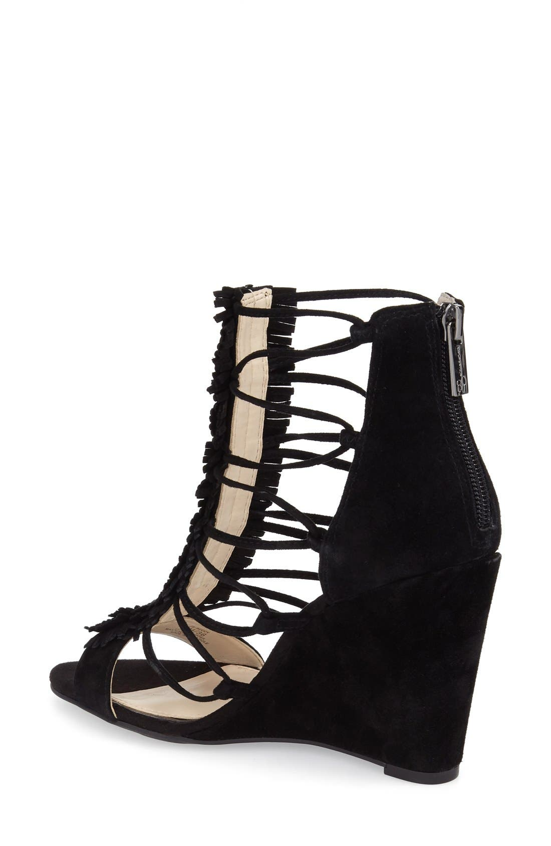 'Beccy' Wedge Sandal,                             Alternate thumbnail 2, color,                             001