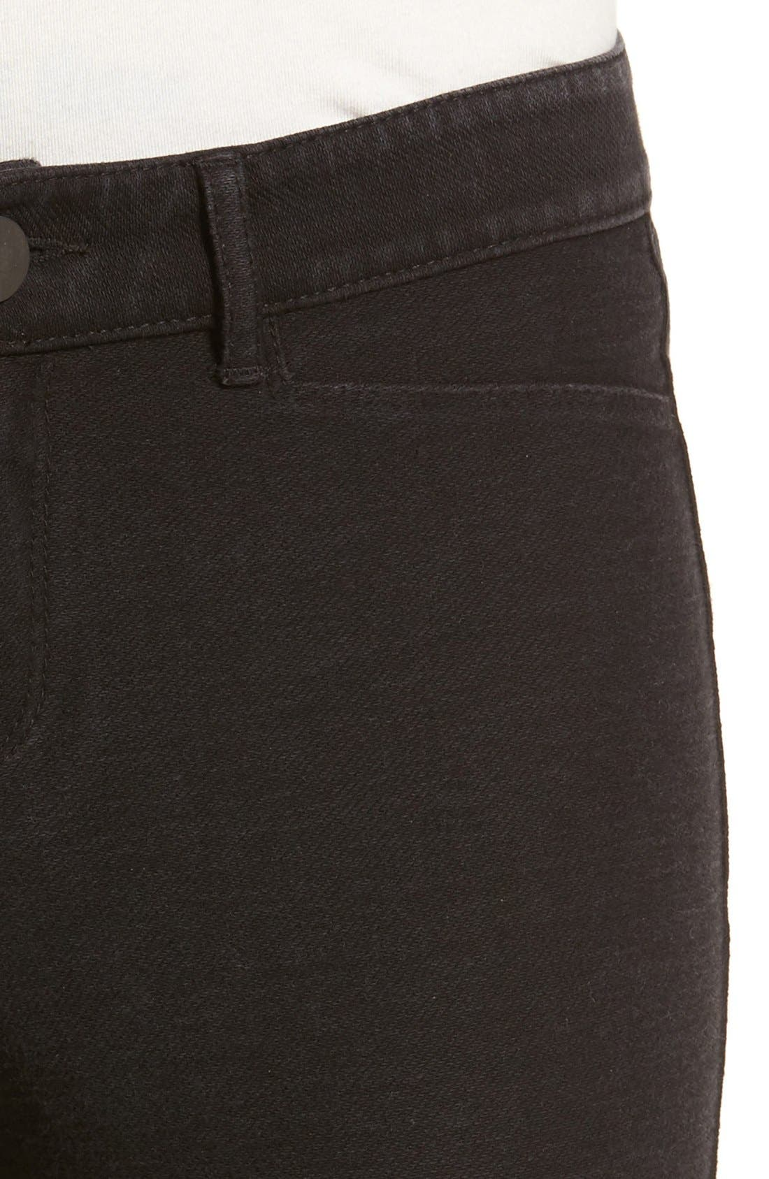 Denim Knit Skinny Jeans,                             Alternate thumbnail 3, color,                             002