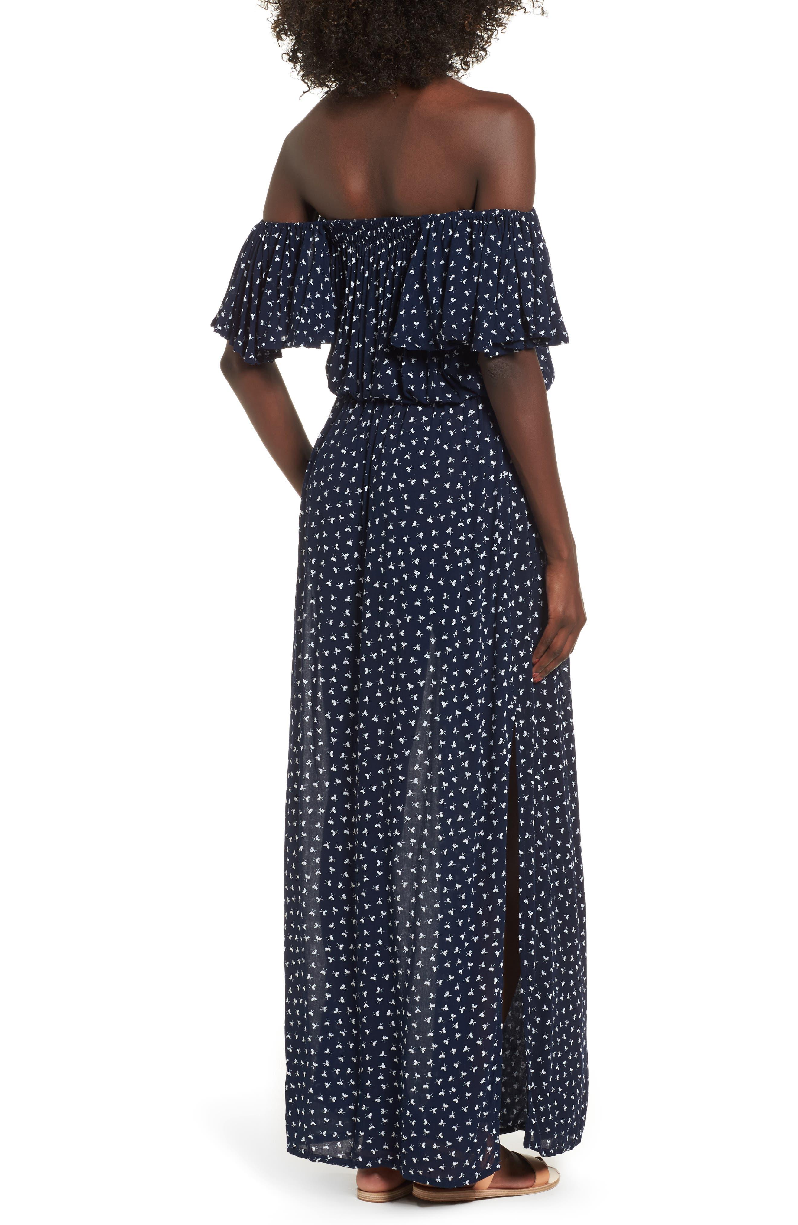 La Digue Off the Shoulder Maxi Dress,                             Alternate thumbnail 2, color,                             410