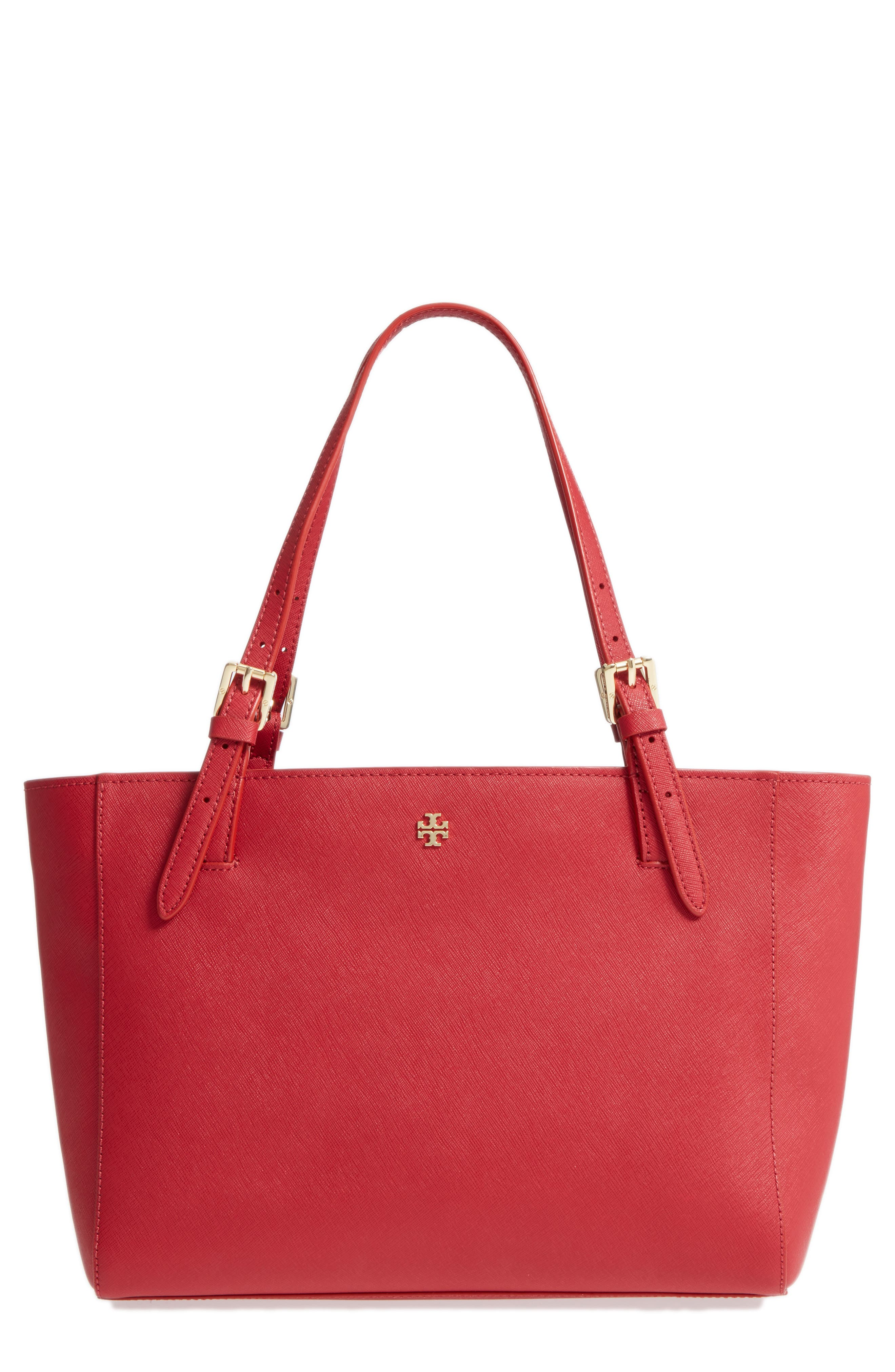 'Small York' Saffiano Leather Buckle Tote,                             Alternate thumbnail 16, color,