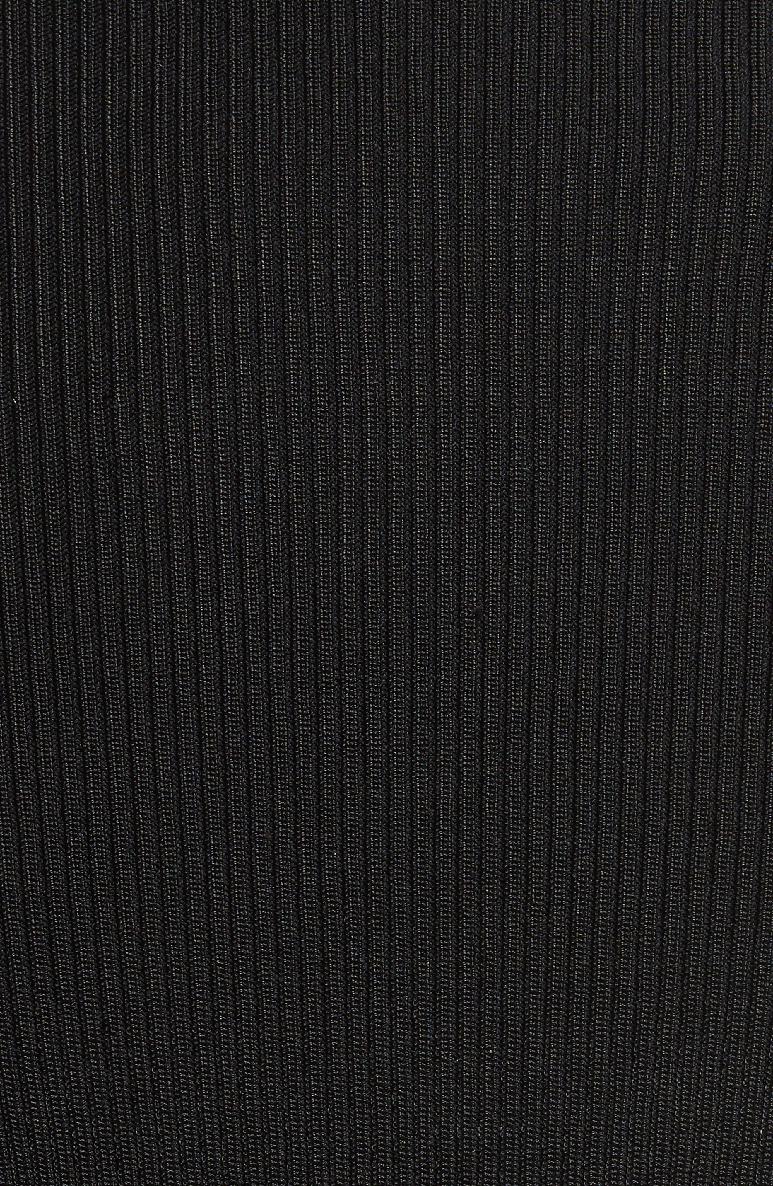 Desiree Cutout Ribbed Body-Con Dress,                             Alternate thumbnail 5, color,                             001