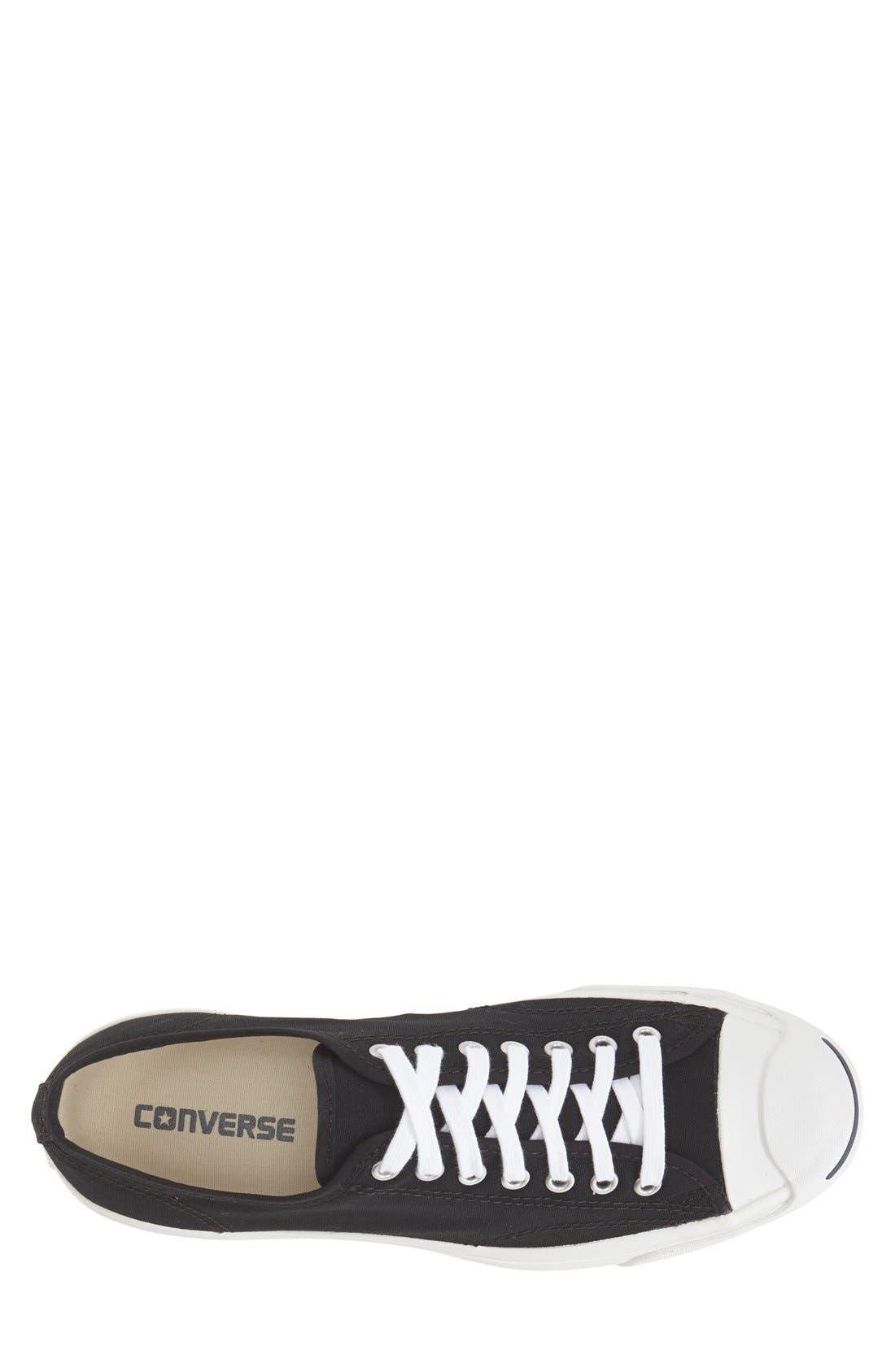 CONVERSE,                             'Jack Purcell' Sneaker,                             Alternate thumbnail 2, color,                             BLACK