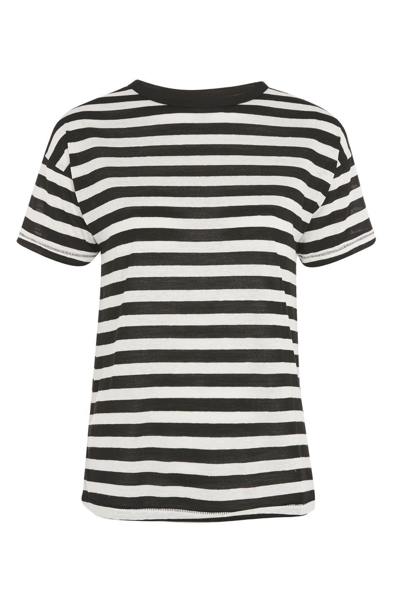 Bold Stripe Tee,                             Alternate thumbnail 3, color,                             001