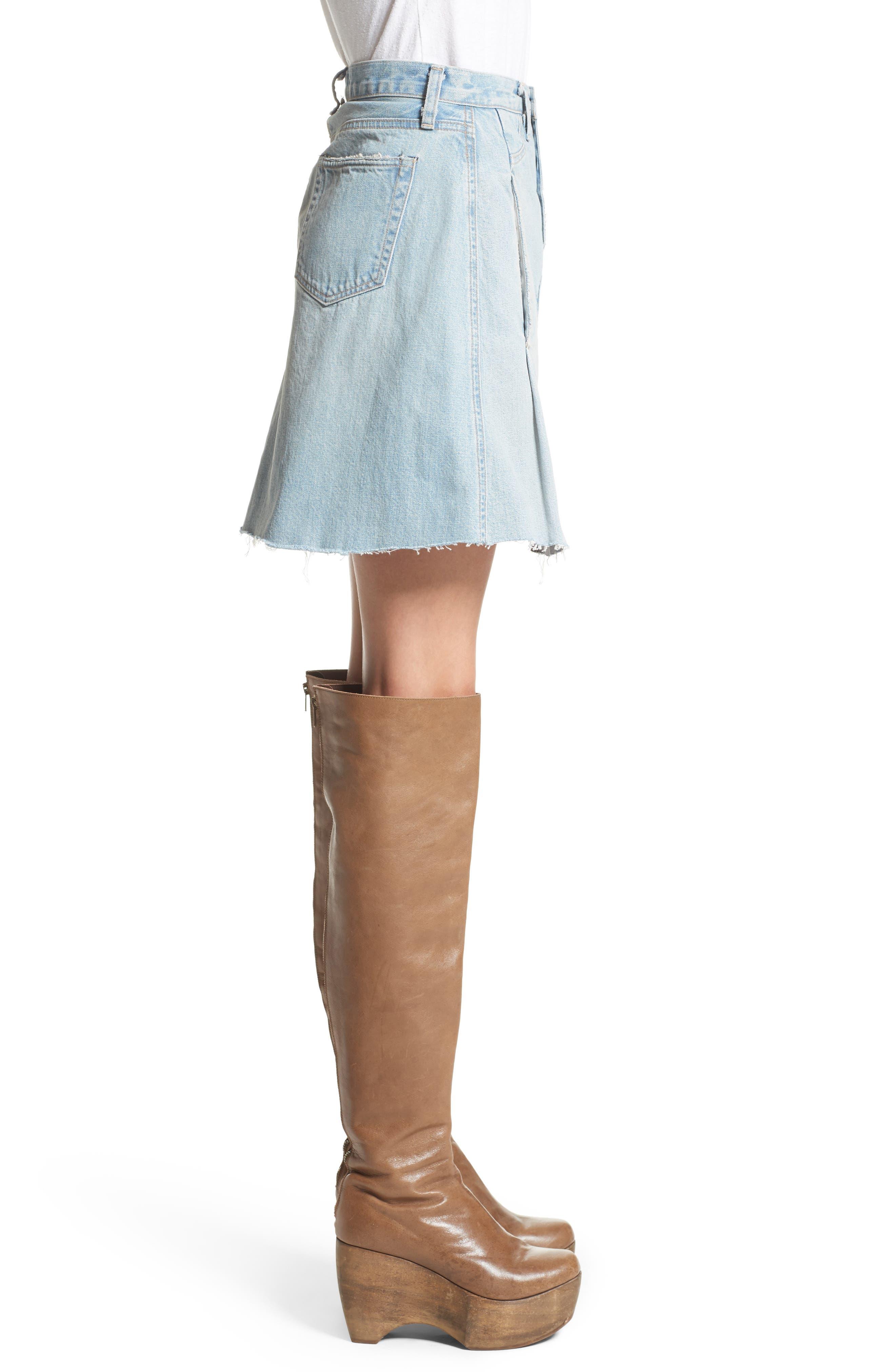 Denim Skirt,                             Alternate thumbnail 3, color,                             400