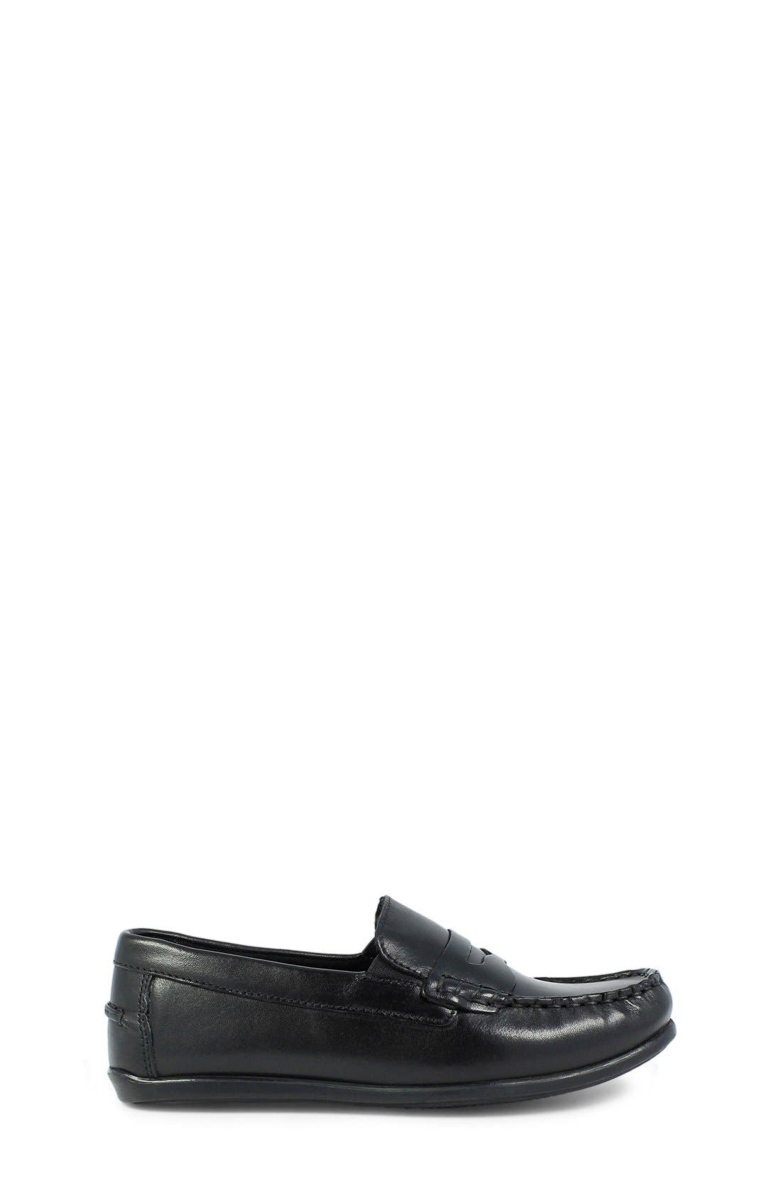 'Jasper - Driver Jr.' Loafer,                             Alternate thumbnail 3, color,                             BLACK LEATHER