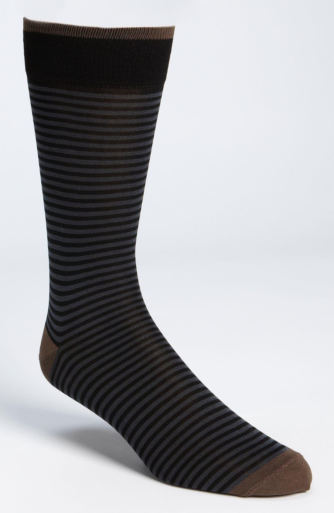 'Palio' Stripe Sock,                         Main,                         color, 027