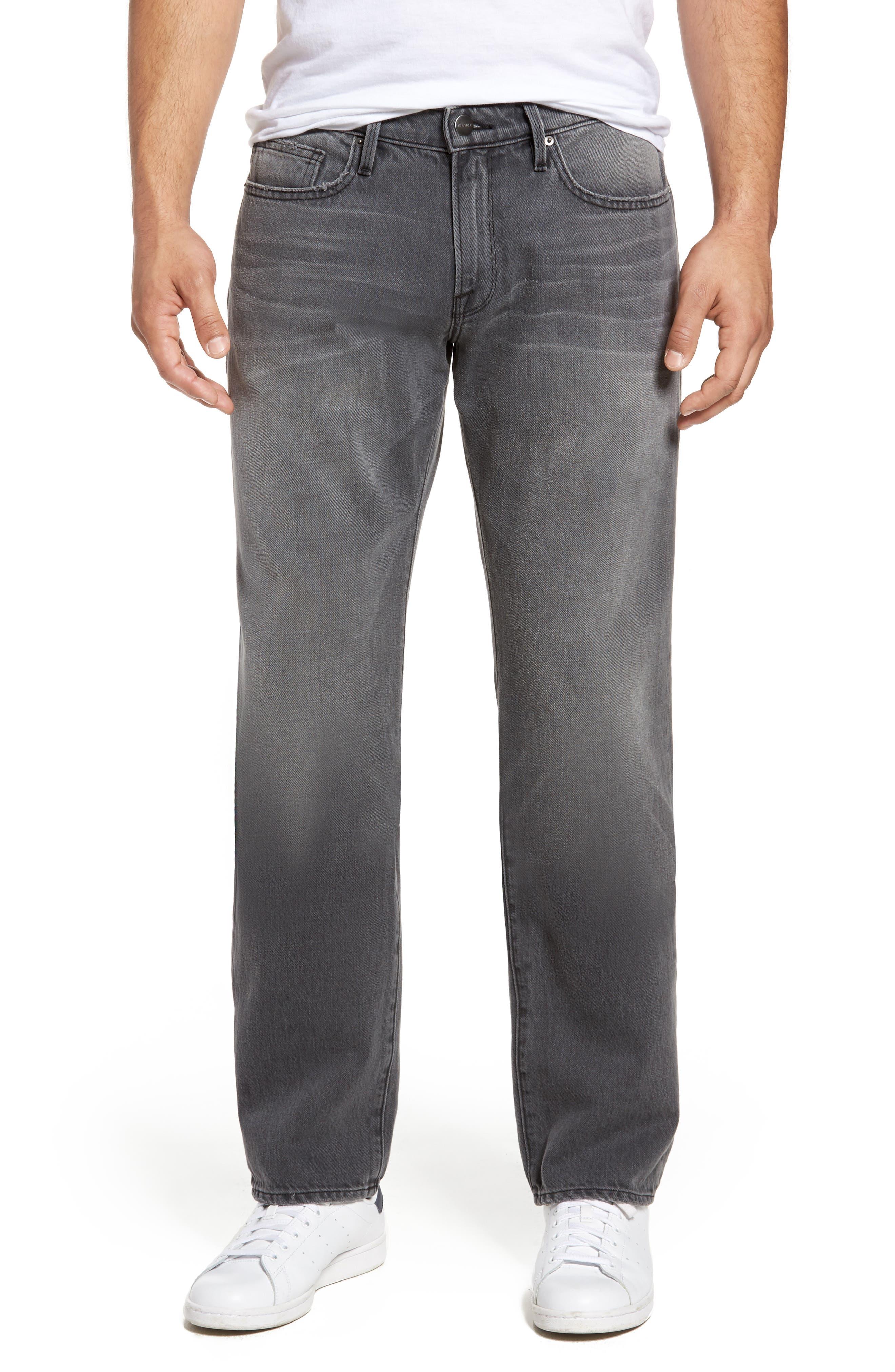 L'Homme Slim Straight Leg Jeans,                             Main thumbnail 1, color,                             050