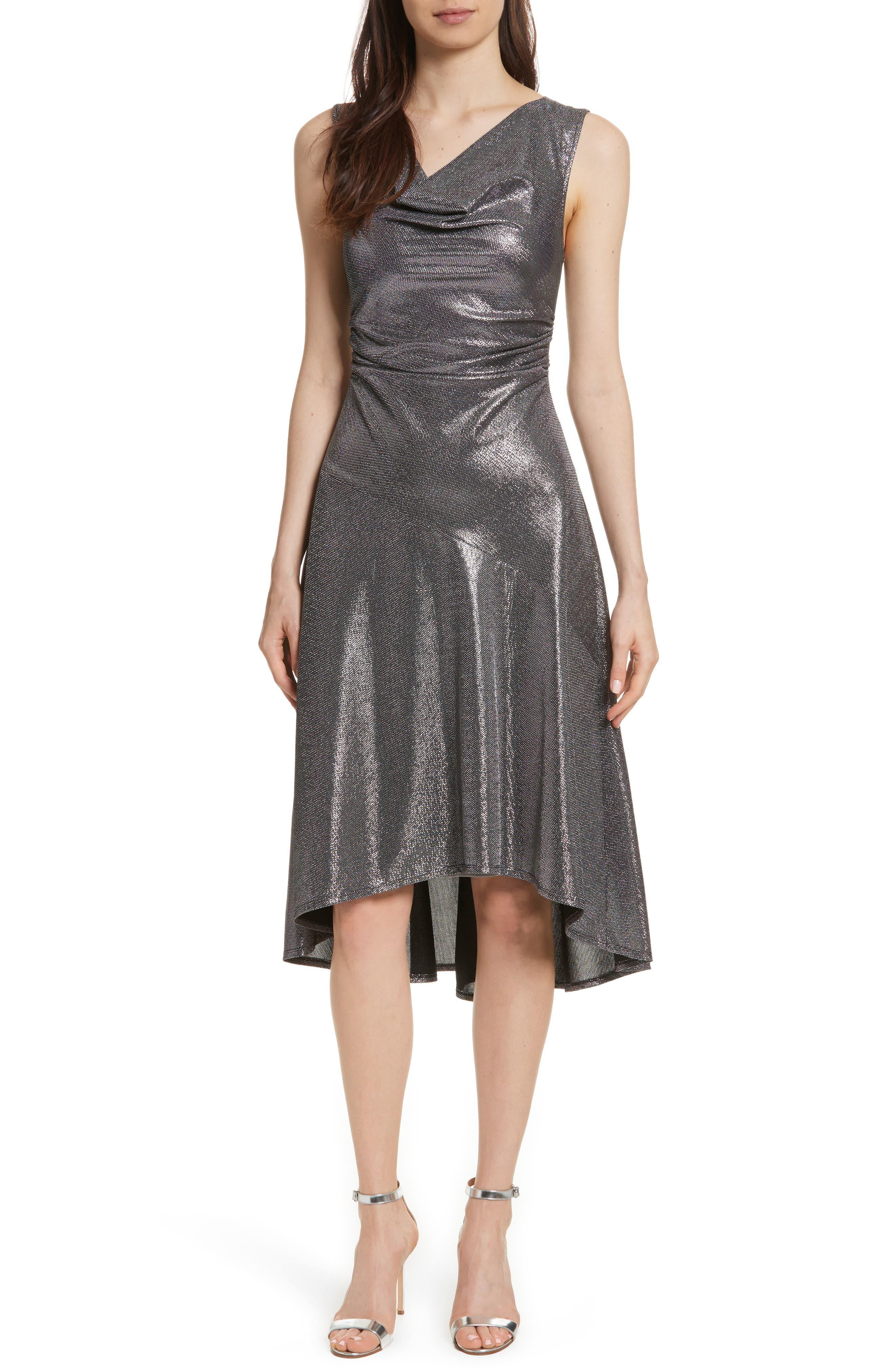Draped High/Low Dress,                         Main,                         color, 045