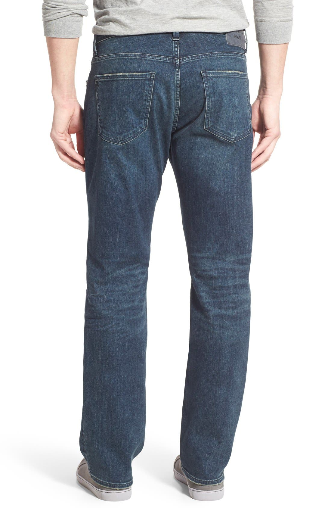 PERFORM - Sid Straight Leg Jeans,                             Alternate thumbnail 8, color,                             NORLAND
