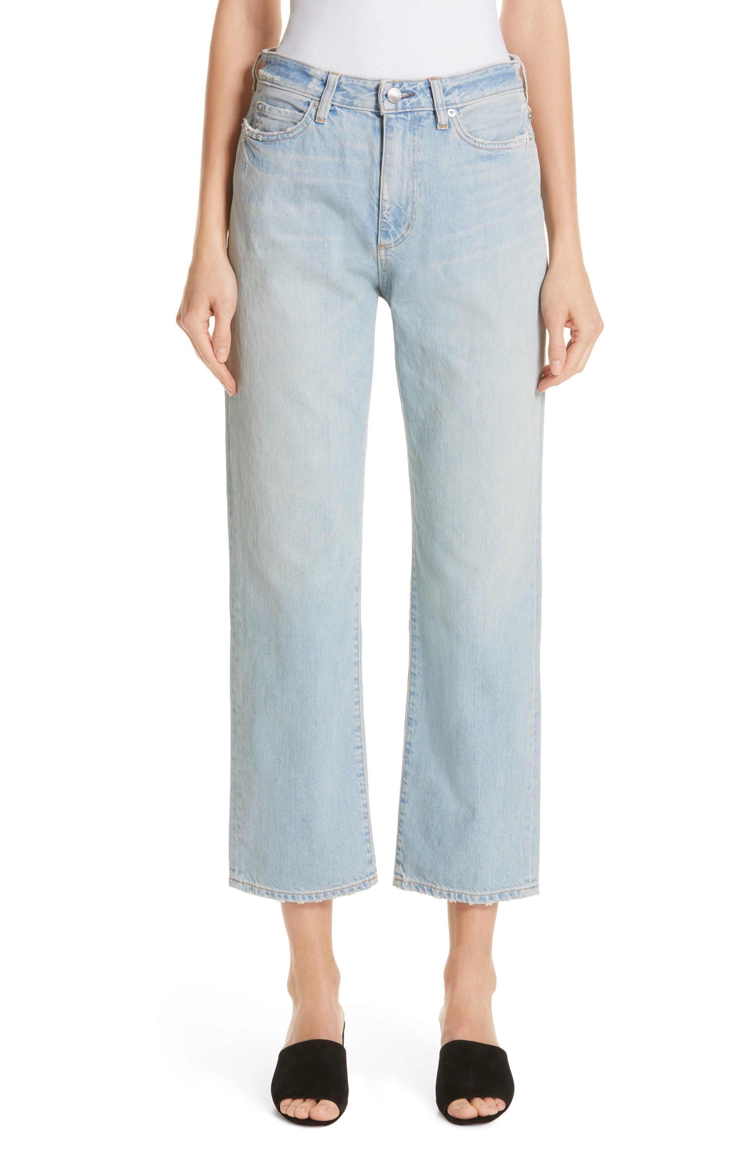 High Waist Crop Jeans,                             Main thumbnail 1, color,                             VINTAGE WASH 6