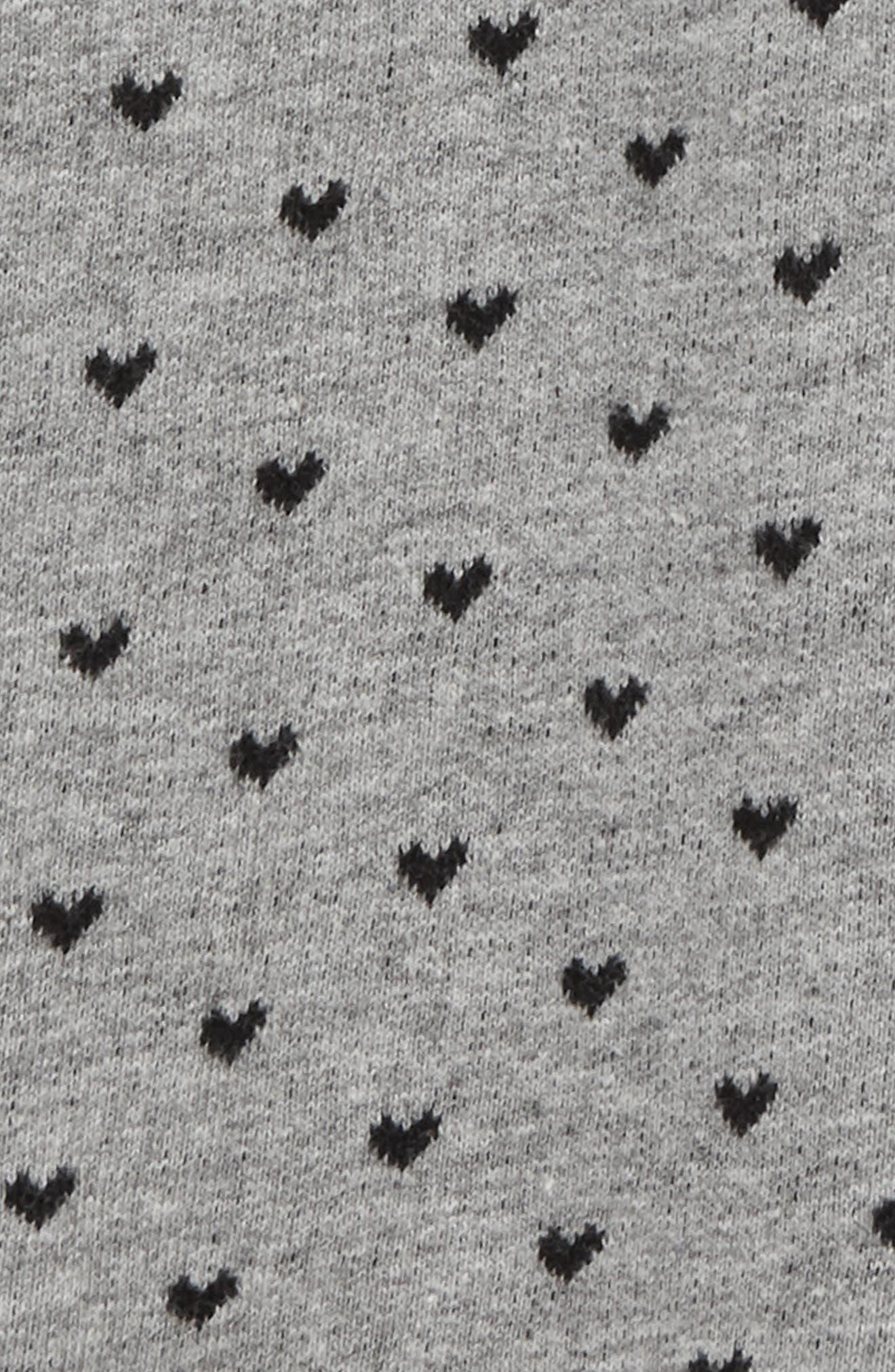 Peek Heart Traveler Knit Pants,                             Alternate thumbnail 2, color,                             HEATHER GREY
