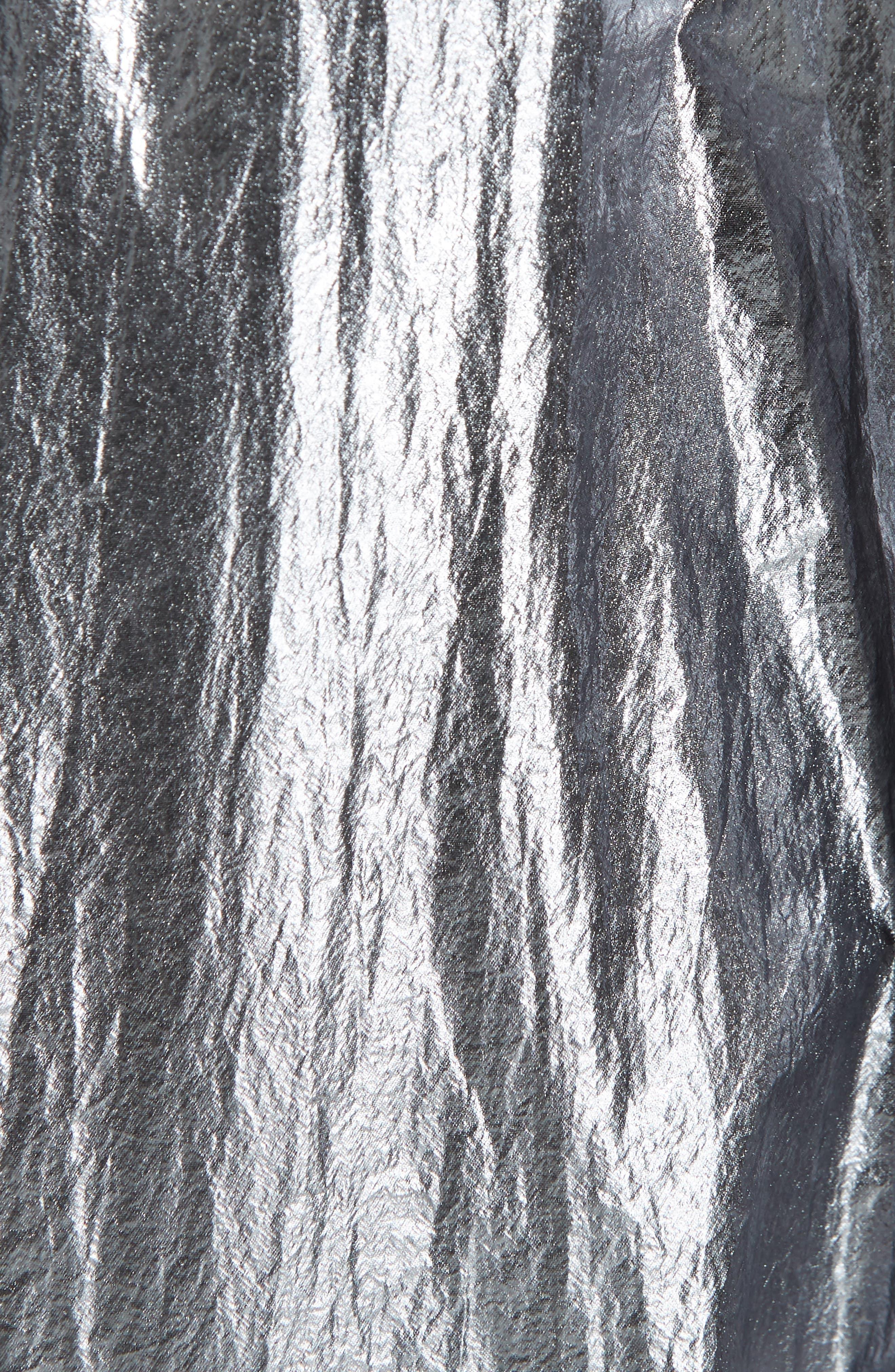 Metallic Crop Puffer Jacket,                             Alternate thumbnail 6, color,                             040