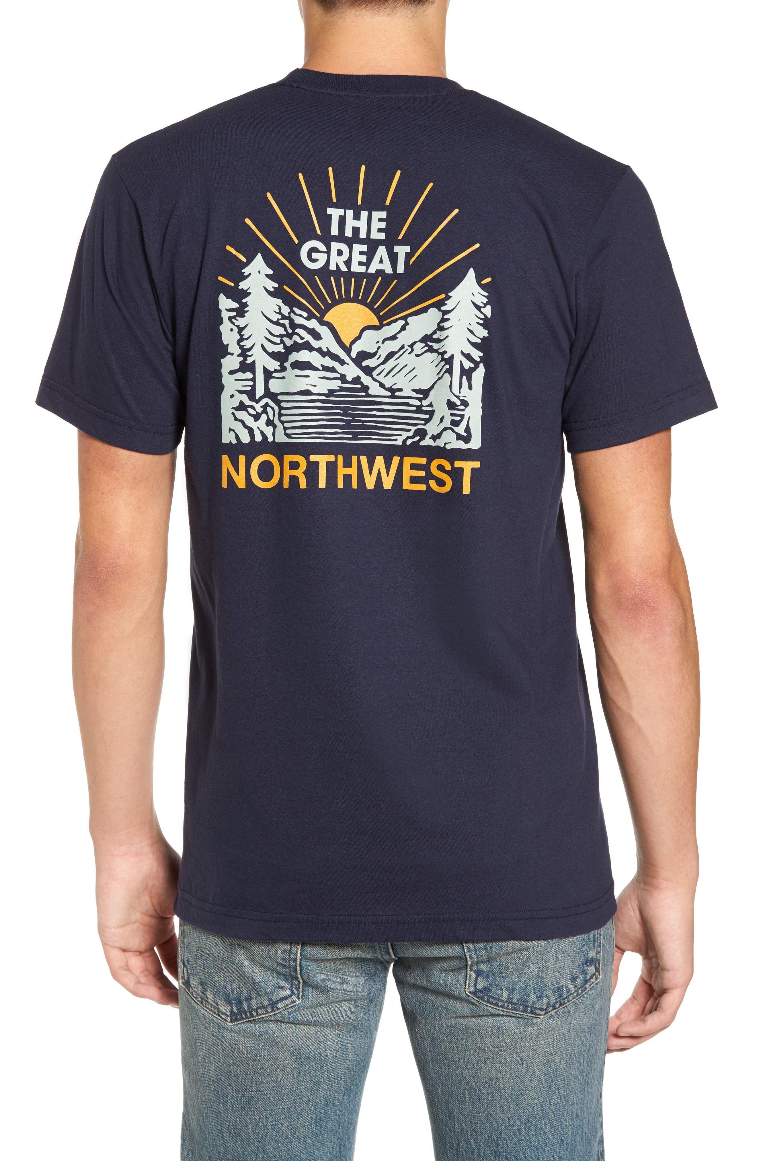 Squatch Valley 2 Graphic T-Shirt,                             Alternate thumbnail 4, color,