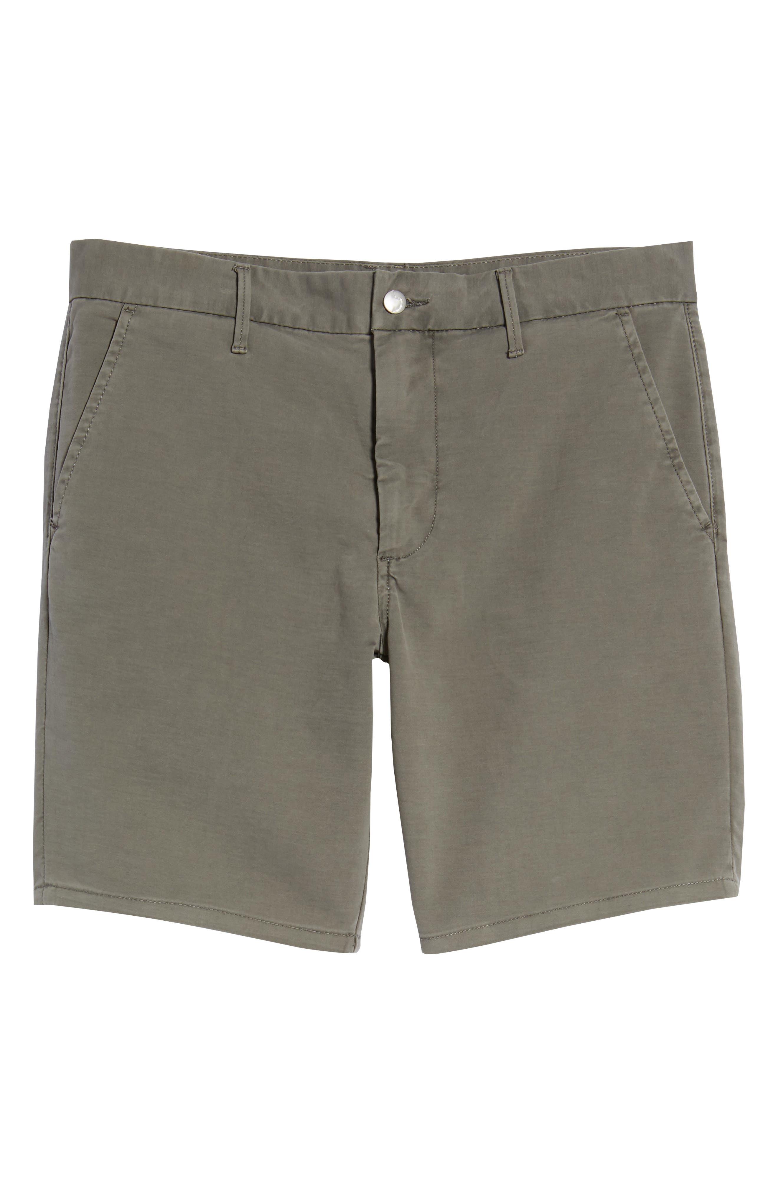 Brixton Trim Fit Straight Leg Shorts,                             Alternate thumbnail 6, color,                             020