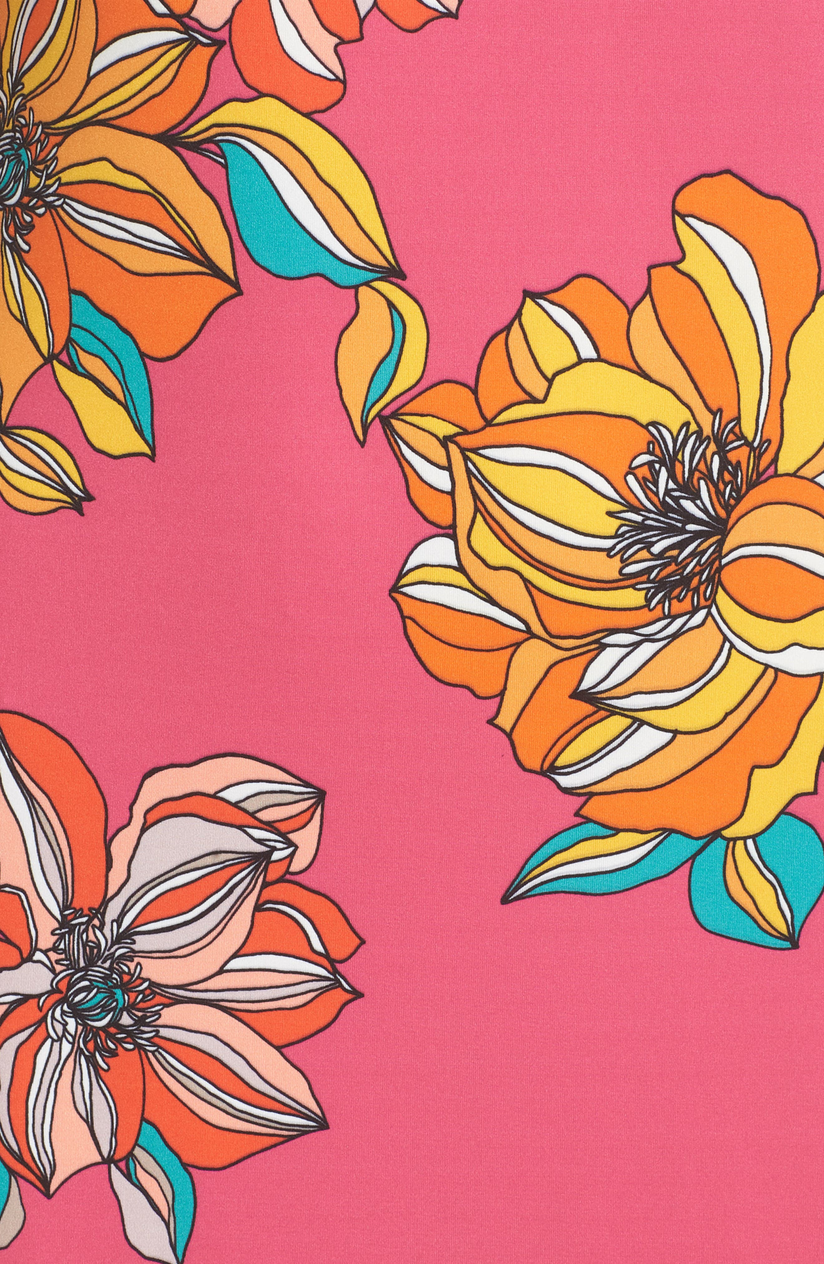 Vinet Floral Jersey Dress,                             Alternate thumbnail 5, color,                             650
