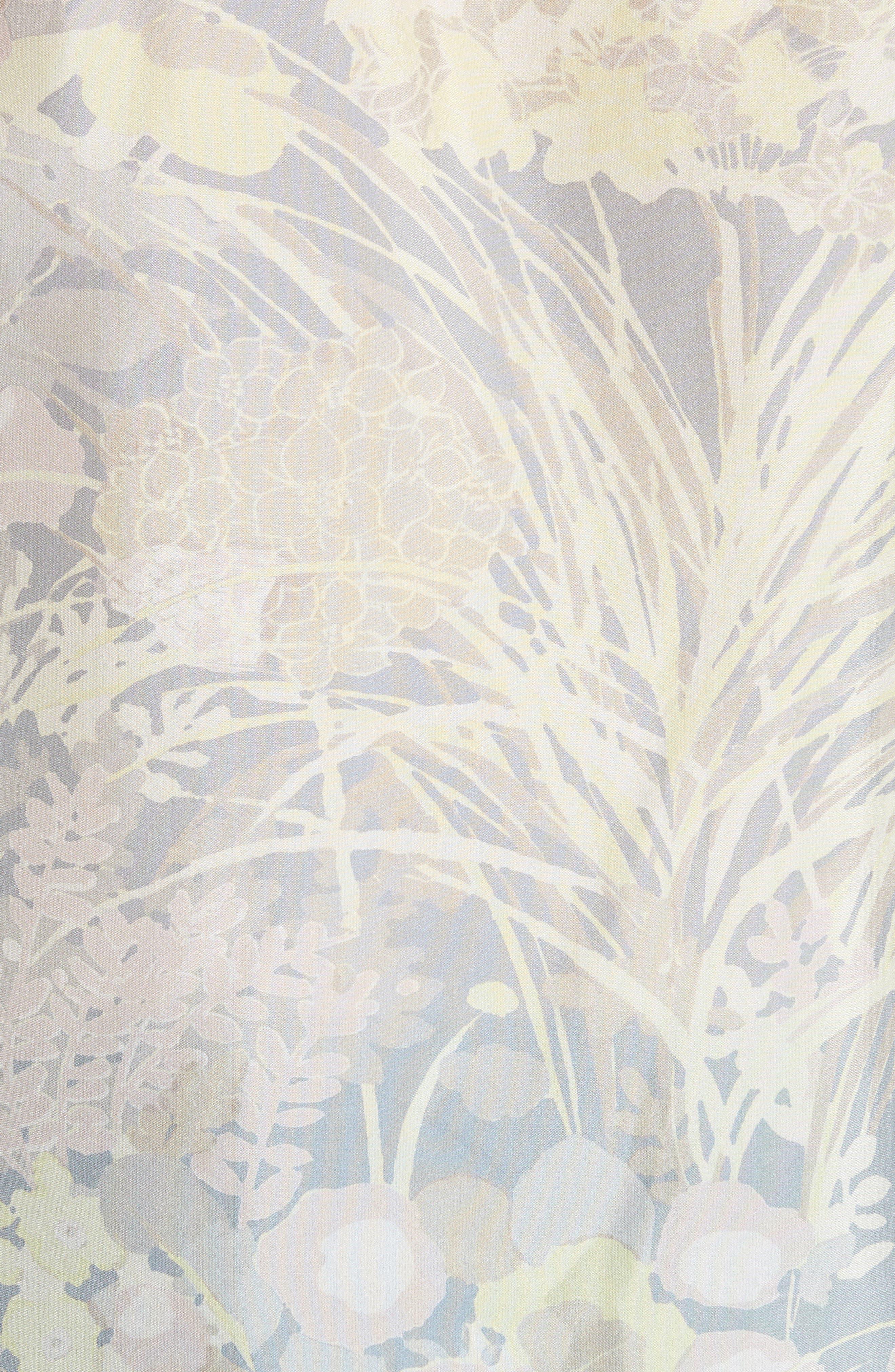 Floral Silk Blouse,                             Alternate thumbnail 5, color,                             020