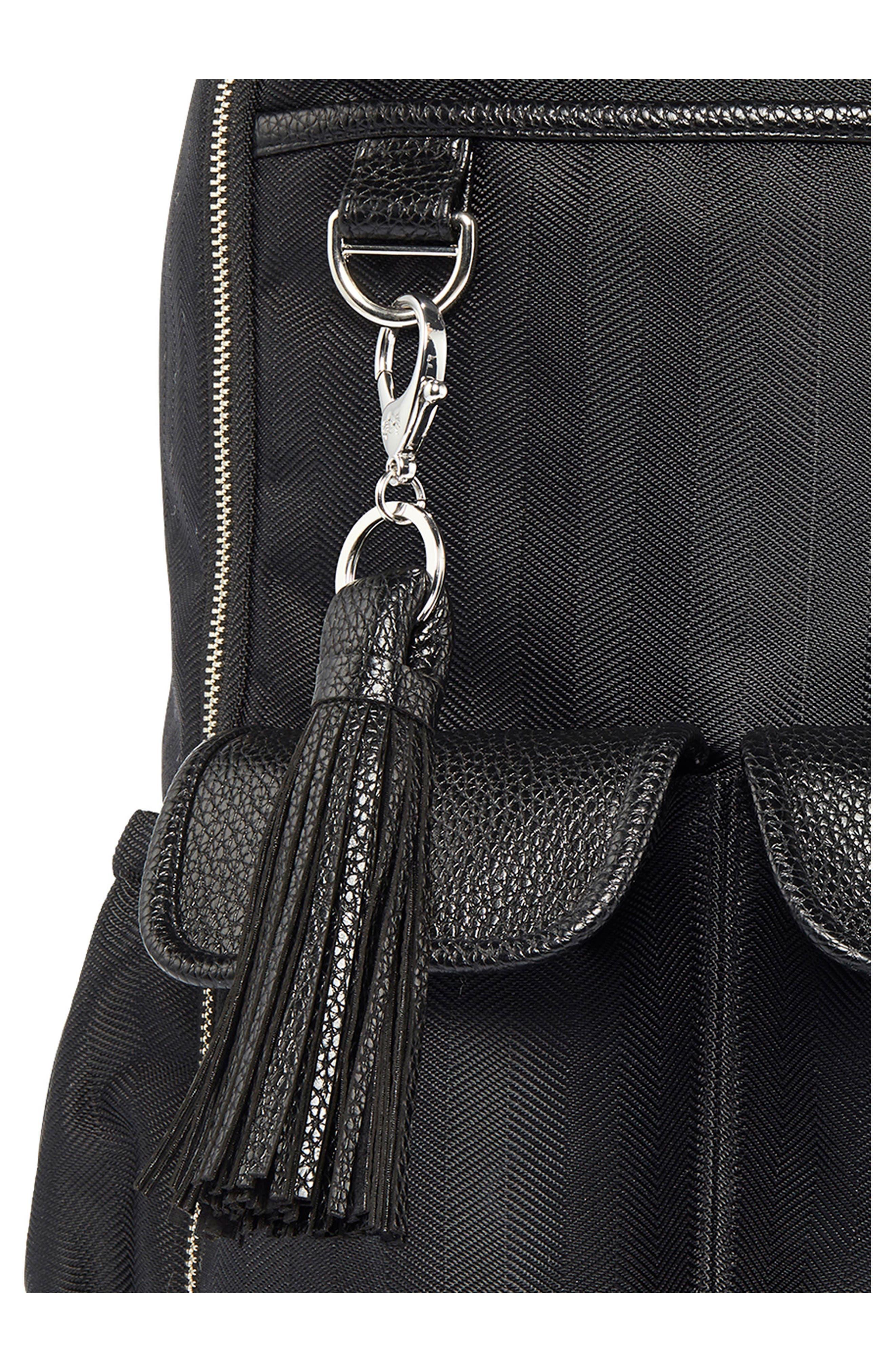Diaper Bag Backpack,                             Alternate thumbnail 4, color,                             BLACK HERRINGBONE