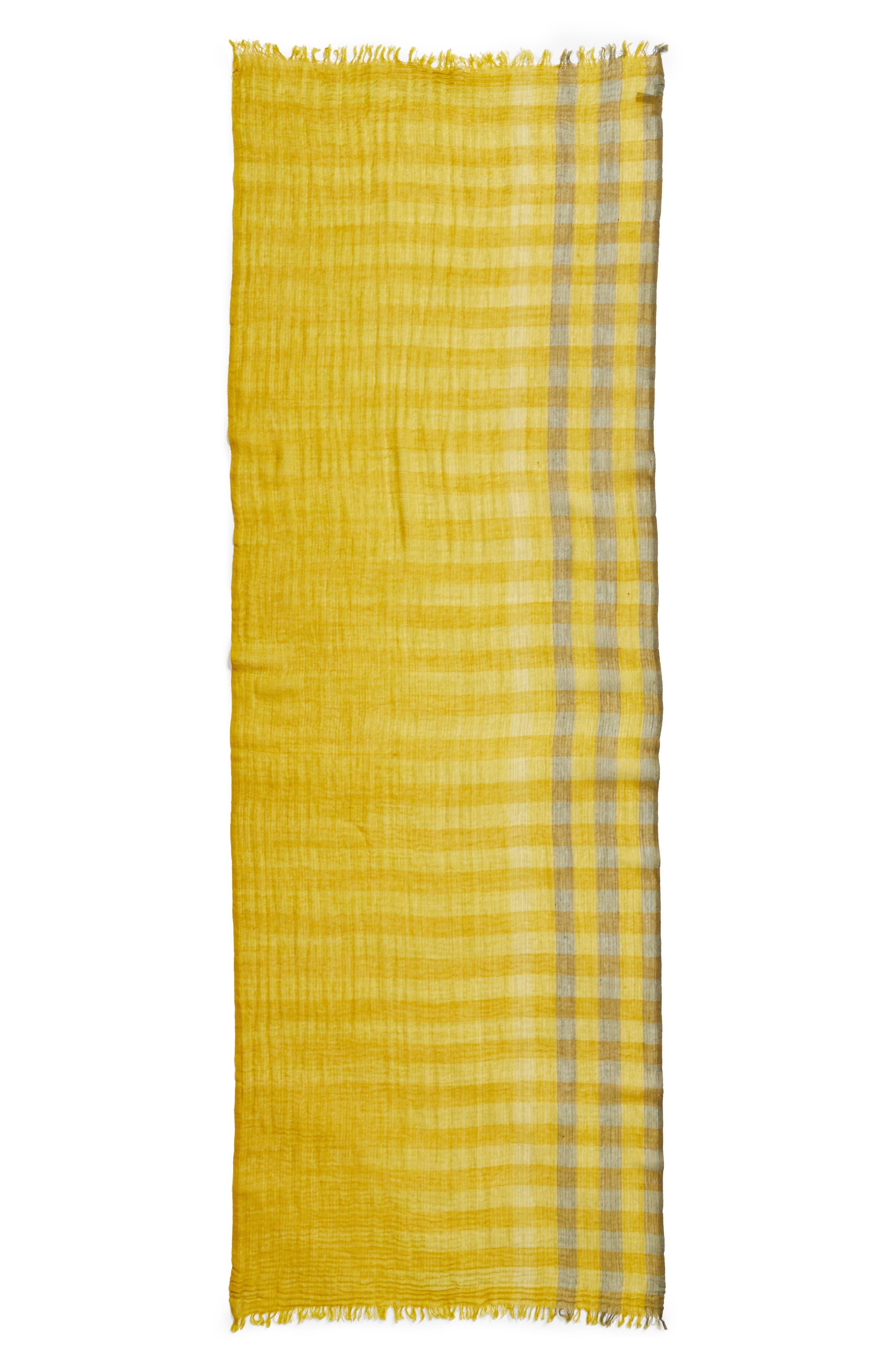Plaid Wool Scarf,                             Alternate thumbnail 12, color,