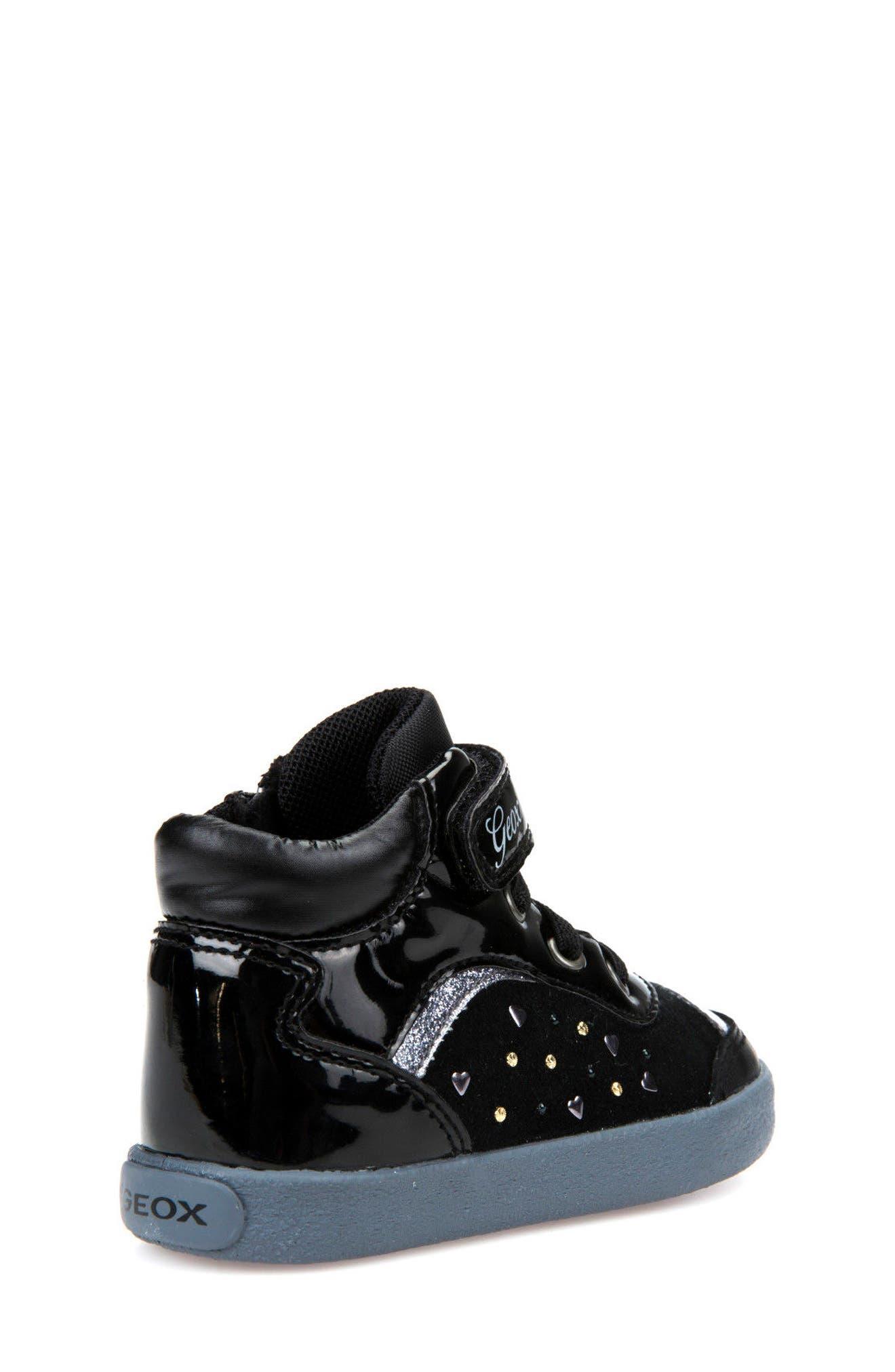 Kiwi Girl Studded High Top Sneaker,                             Alternate thumbnail 4, color,