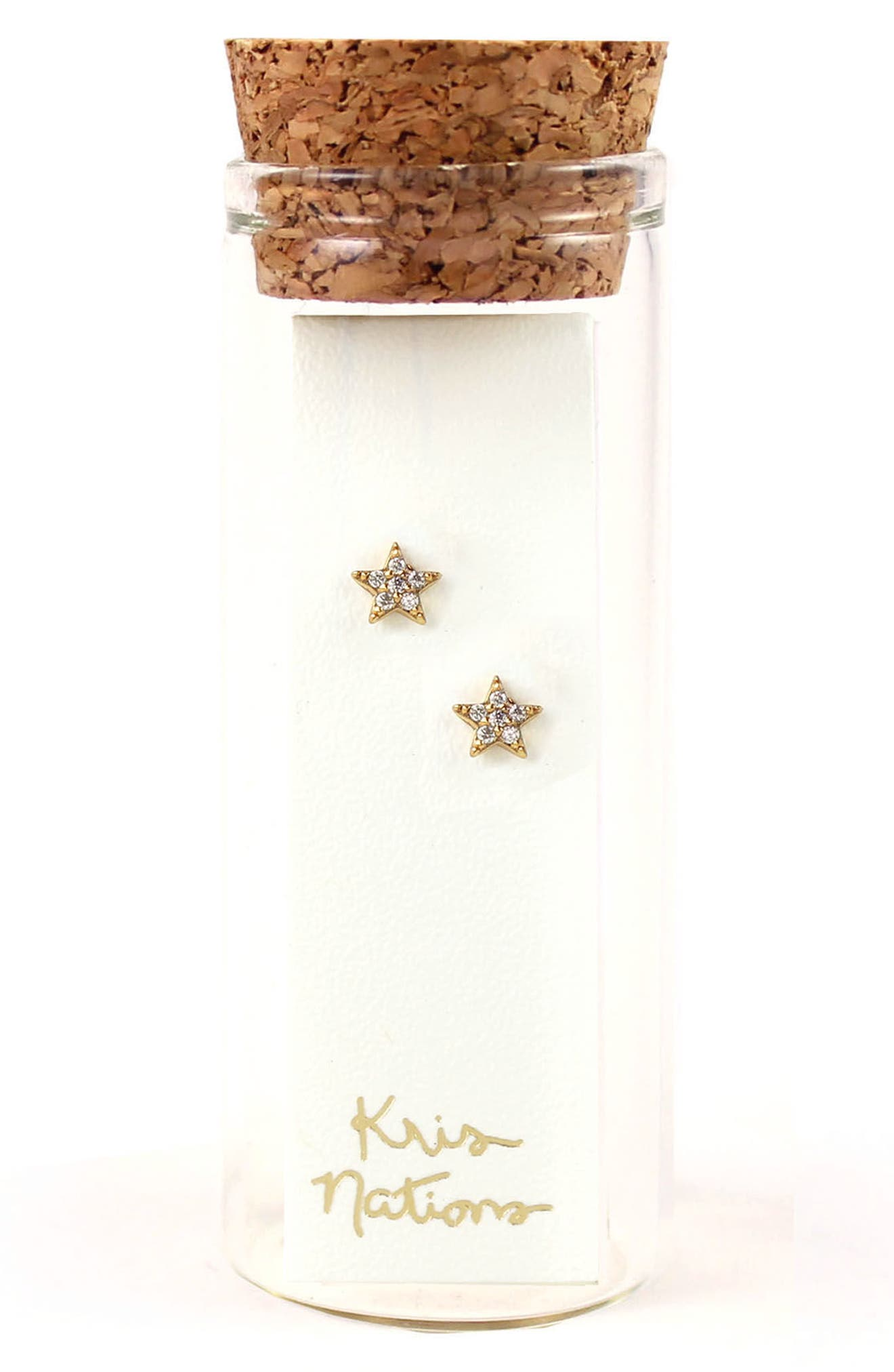 Pavé Star Stud Earrings,                             Alternate thumbnail 2, color,                             040