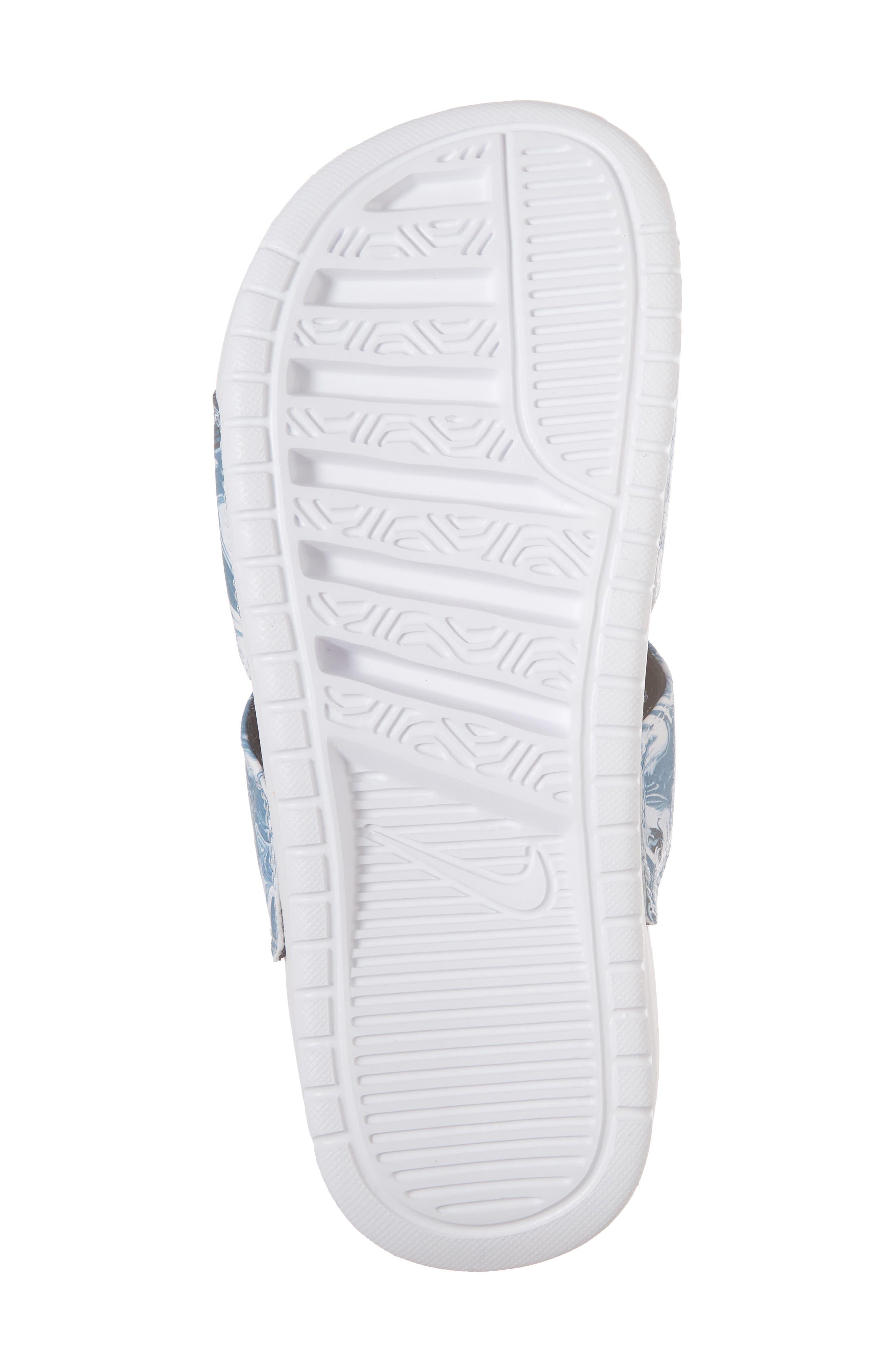 Benassi Duo Ultra Slide Sandal,                             Alternate thumbnail 6, color,                             BLACK/ WHITE