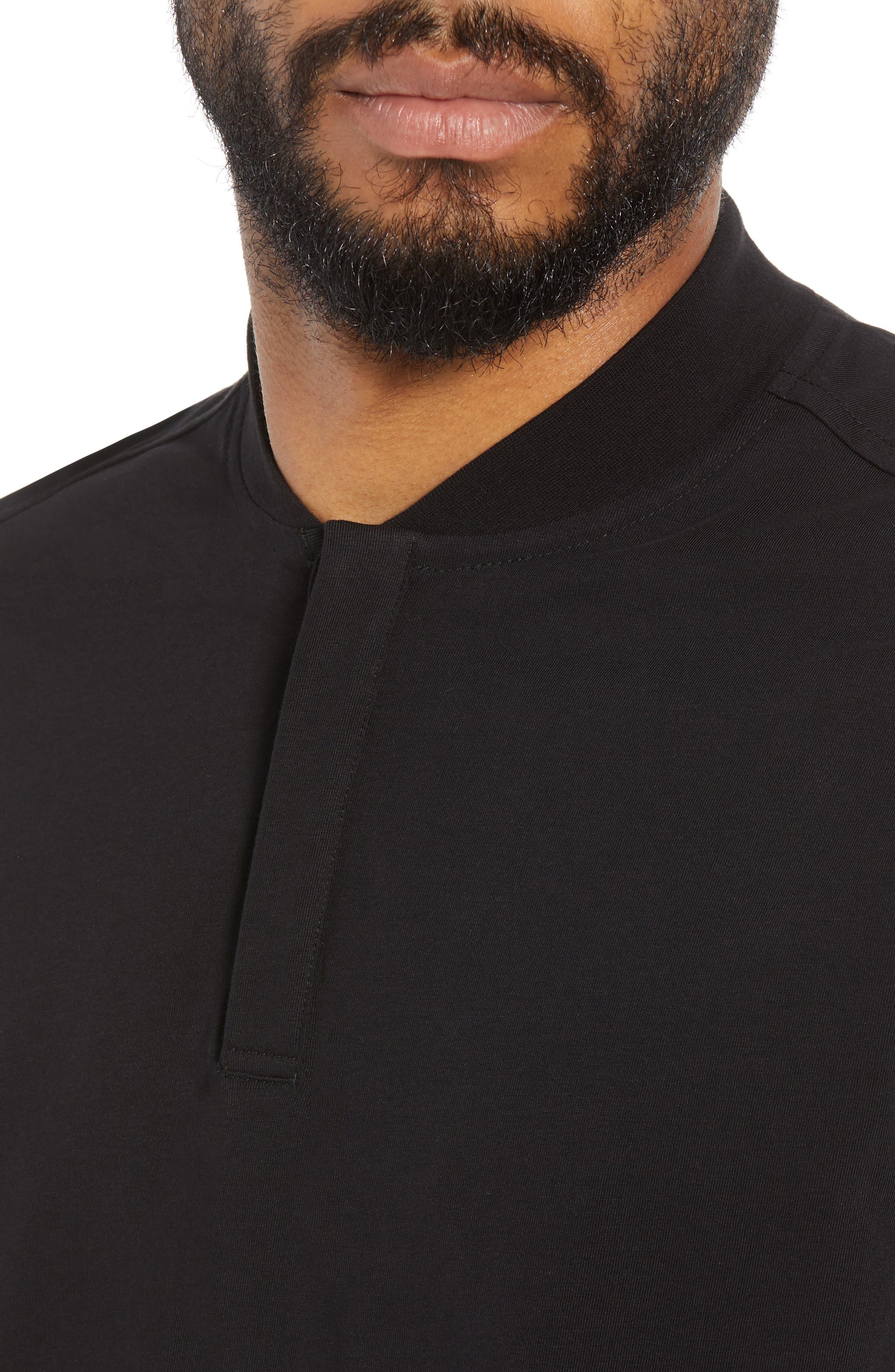 Trim Fit Henley T-Shirt,                             Alternate thumbnail 4, color,                             001