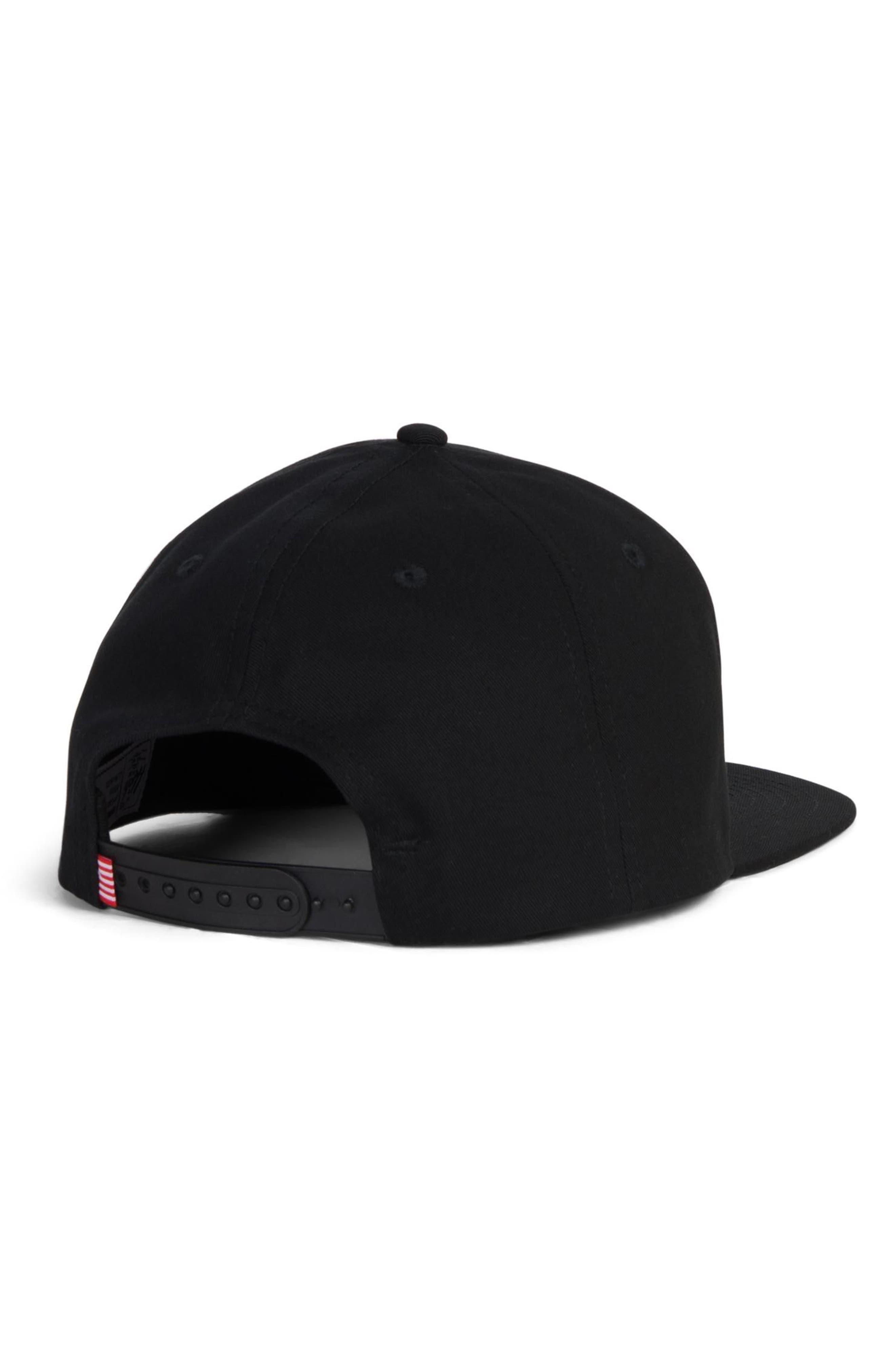 Austin Snapback Baseball Cap,                             Alternate thumbnail 2, color,                             BLACK