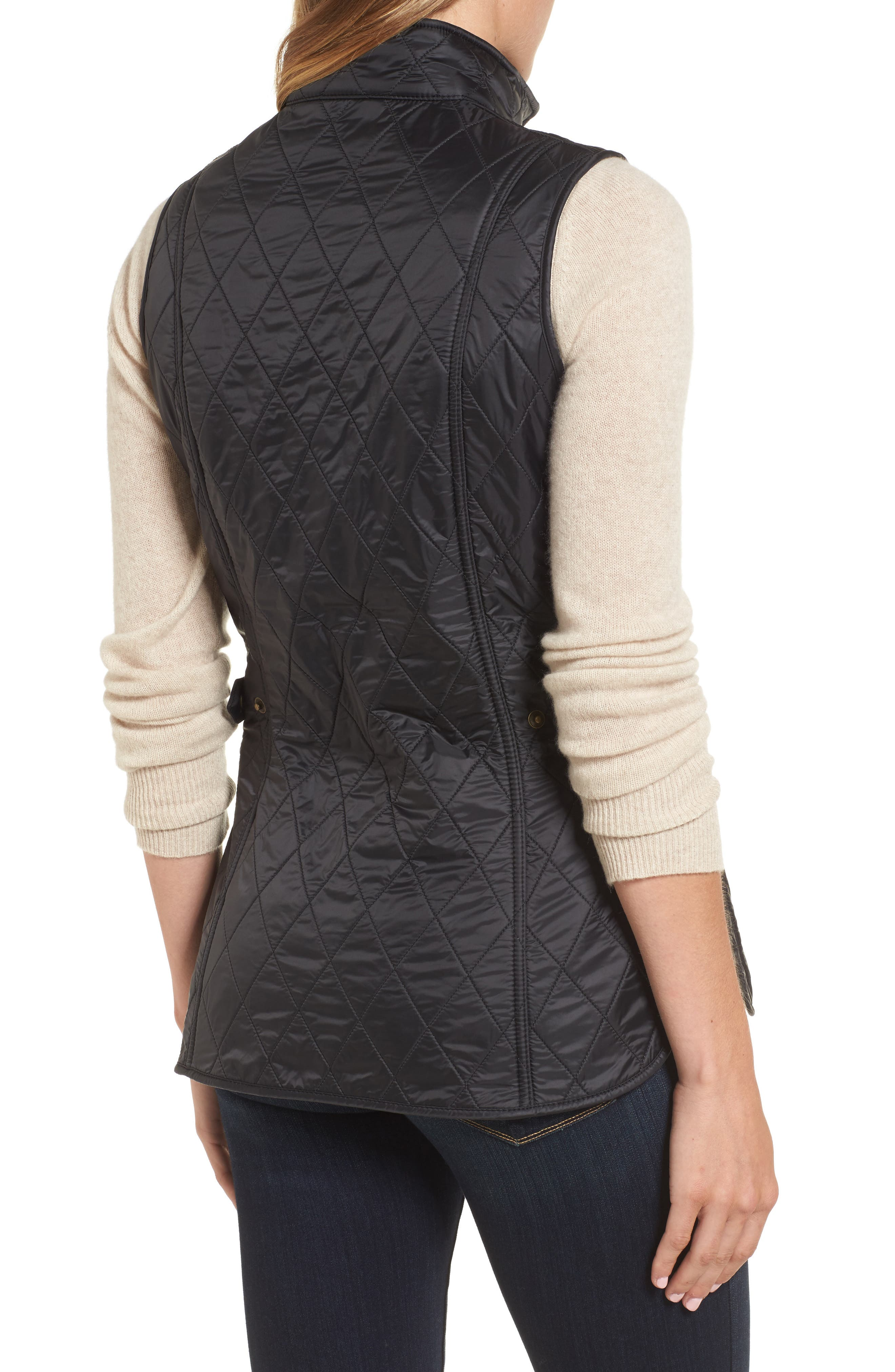 Wray Water Resistant Quilted Gilet,                             Alternate thumbnail 2, color,                             001